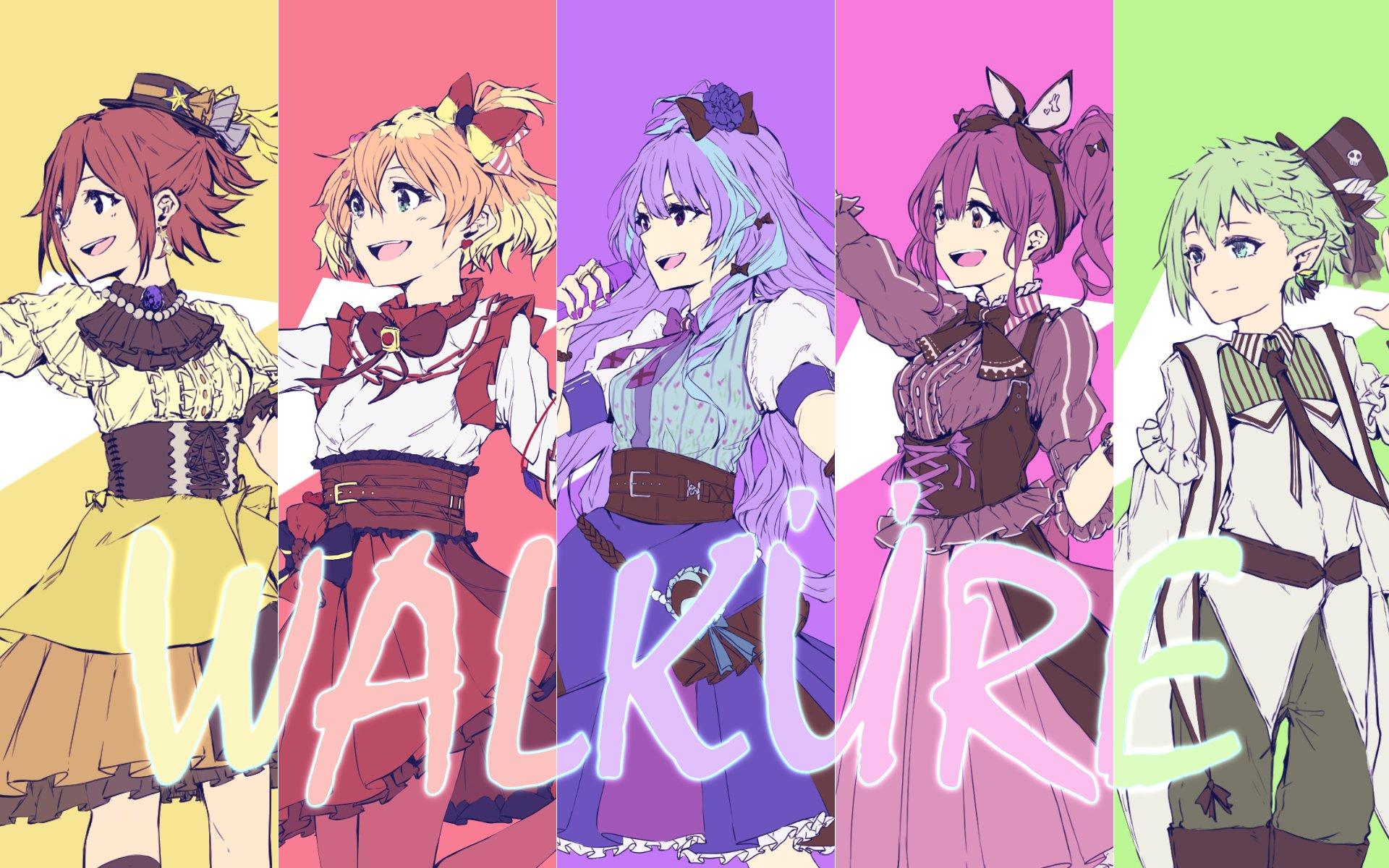 Anime Macross Delta Girls Kaname Buccaneer Freyja Wion Mikumo Guynemer Makina Nakajima Reina Prowler Idol