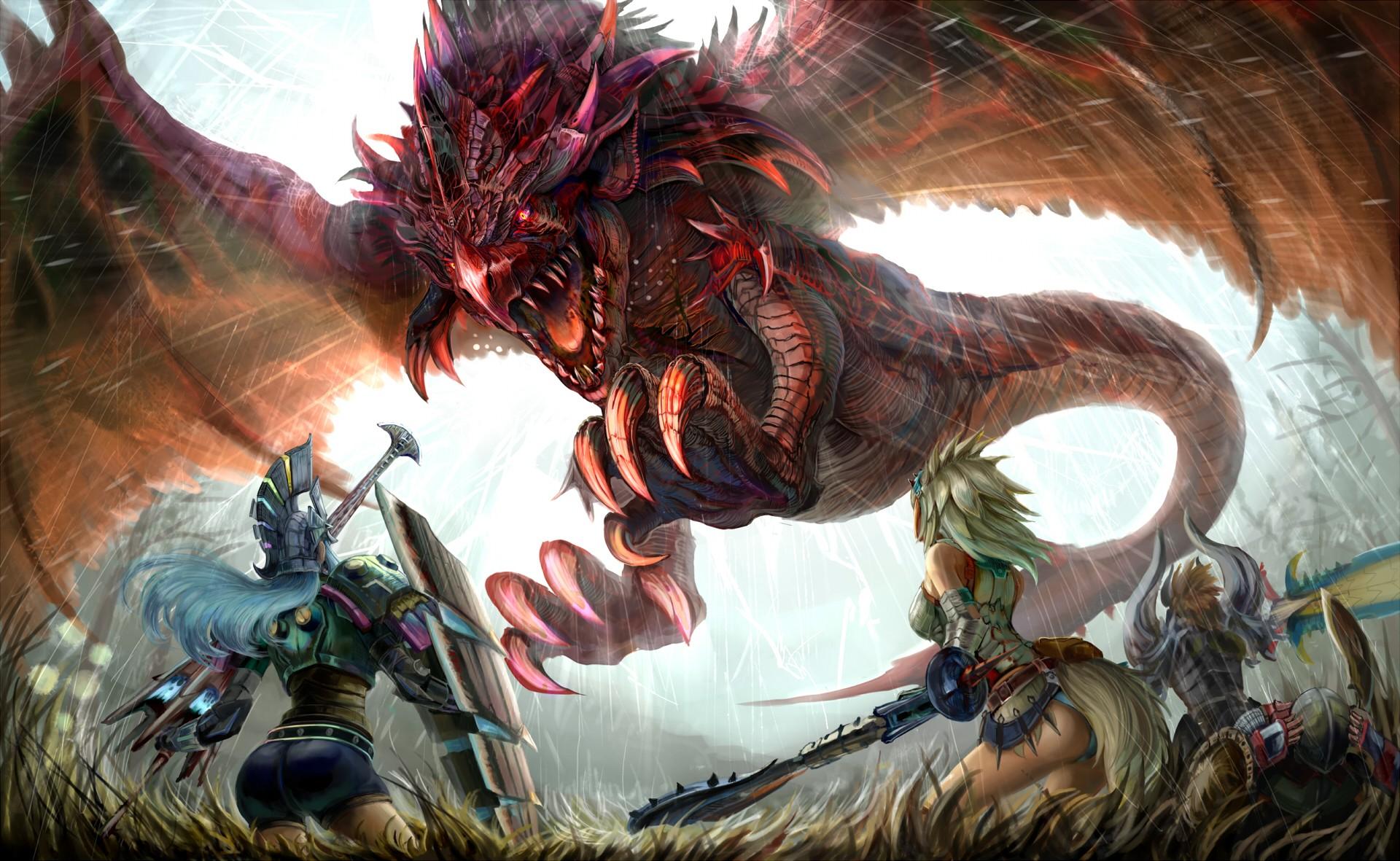 Wallpaper Anime Monster Hunter Comics Mythology Wyvern
