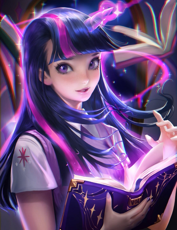 Wallpaper : anime, My Little Pony, realistic, Twilight ...