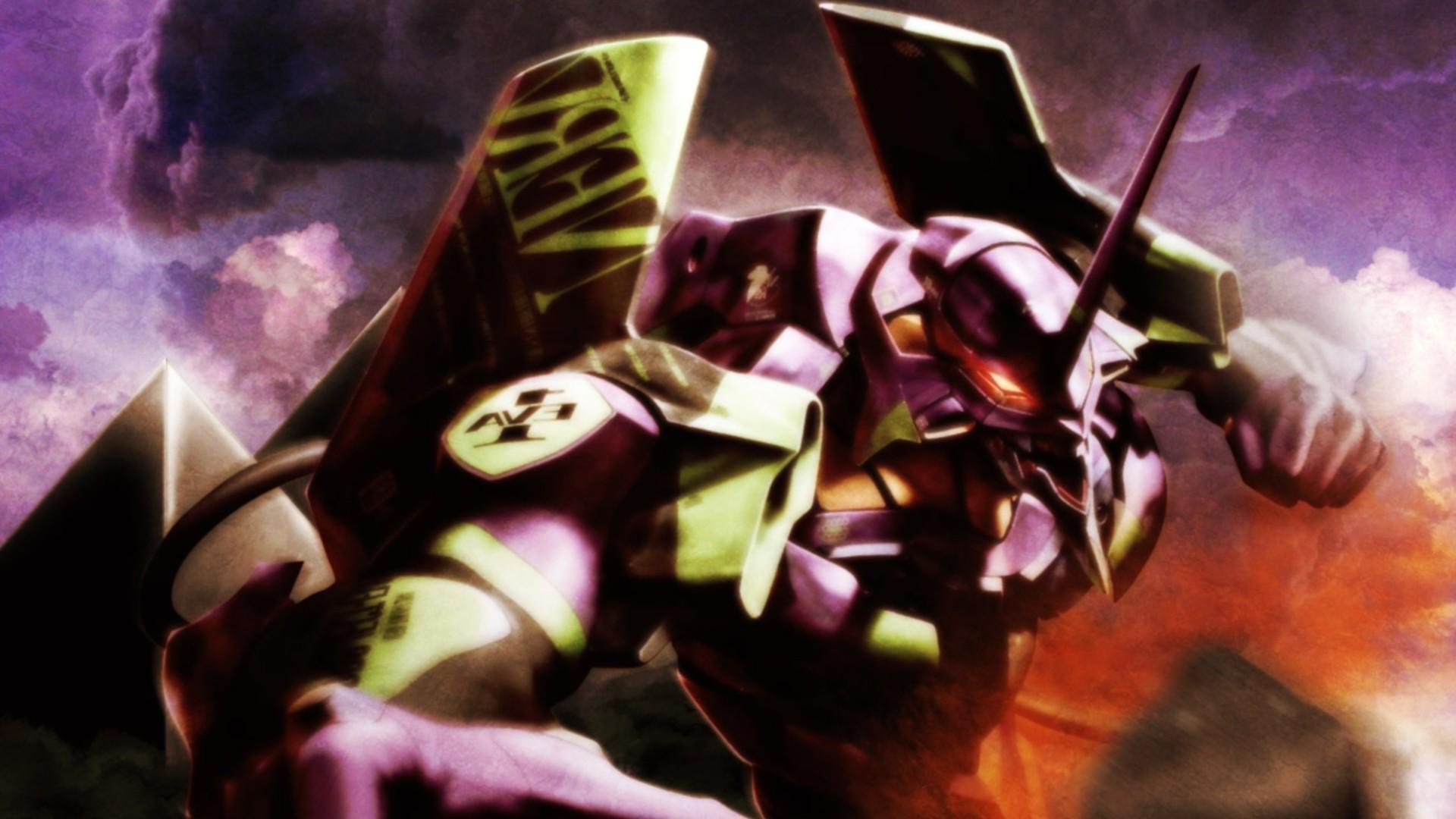 Wallpaper Anime Neon Genesis Evangelion Eva Unit 01