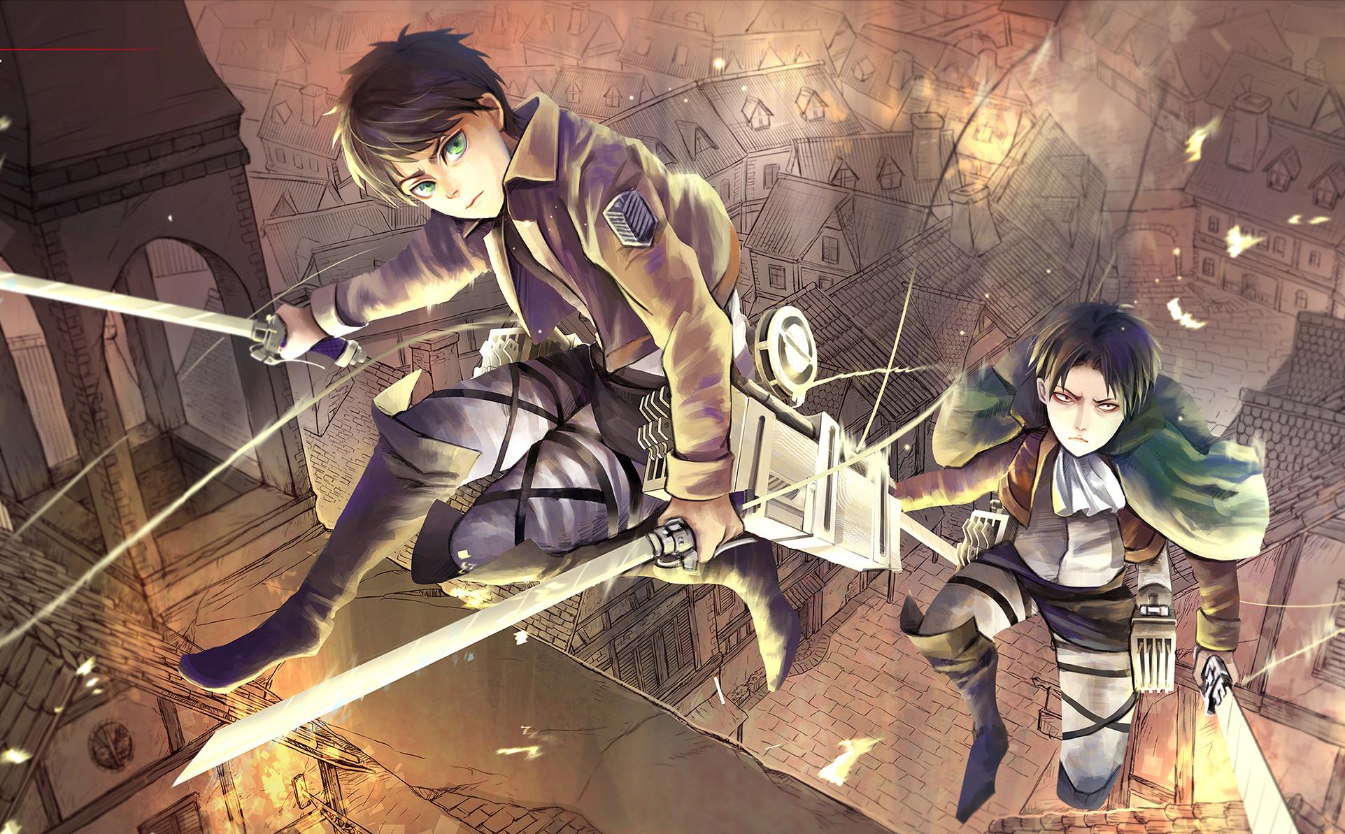 Wallpaper Anime Shingeki No Kyojin Art Screenshot Attack On