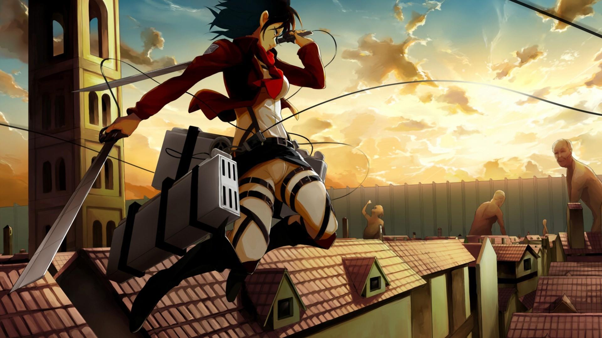 Wallpaper Anime Shingeki No Kyojin Mikasa Ackerman