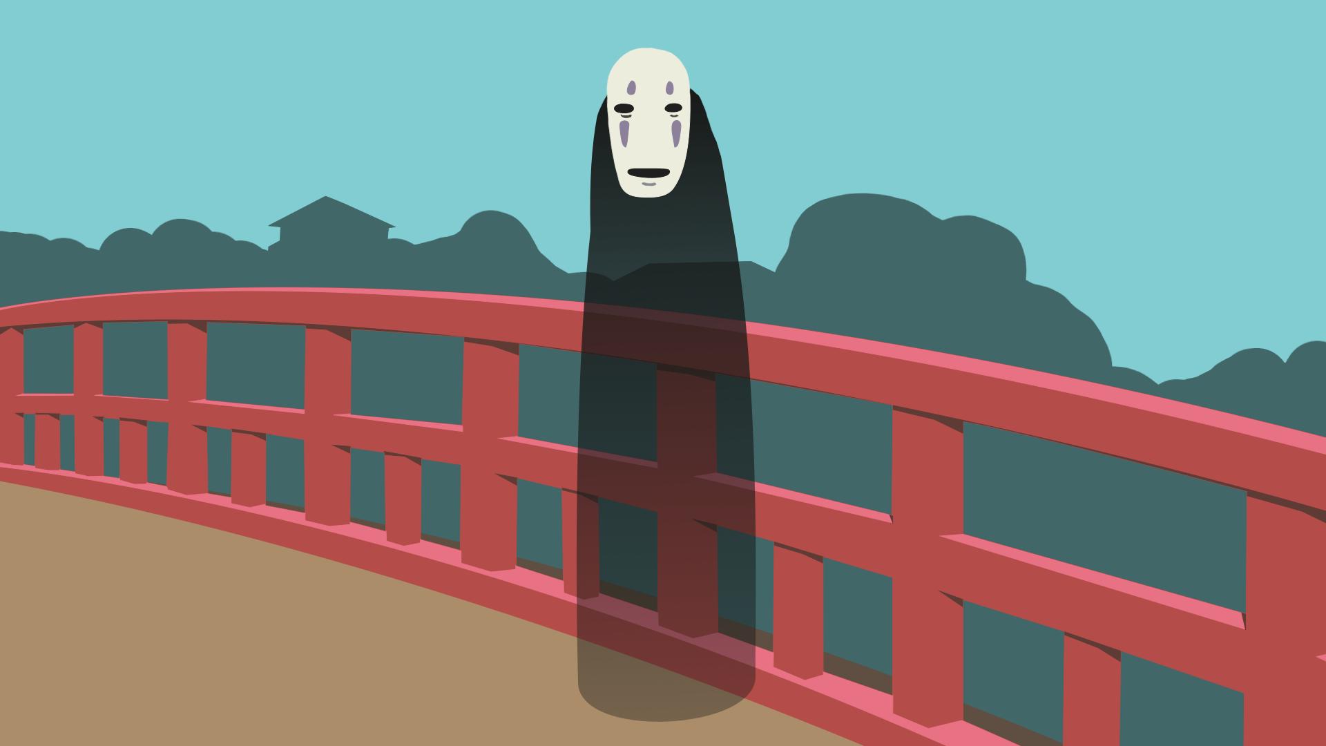 Wallpaper Anime Spirited Away No Face Minimalism Fan Art