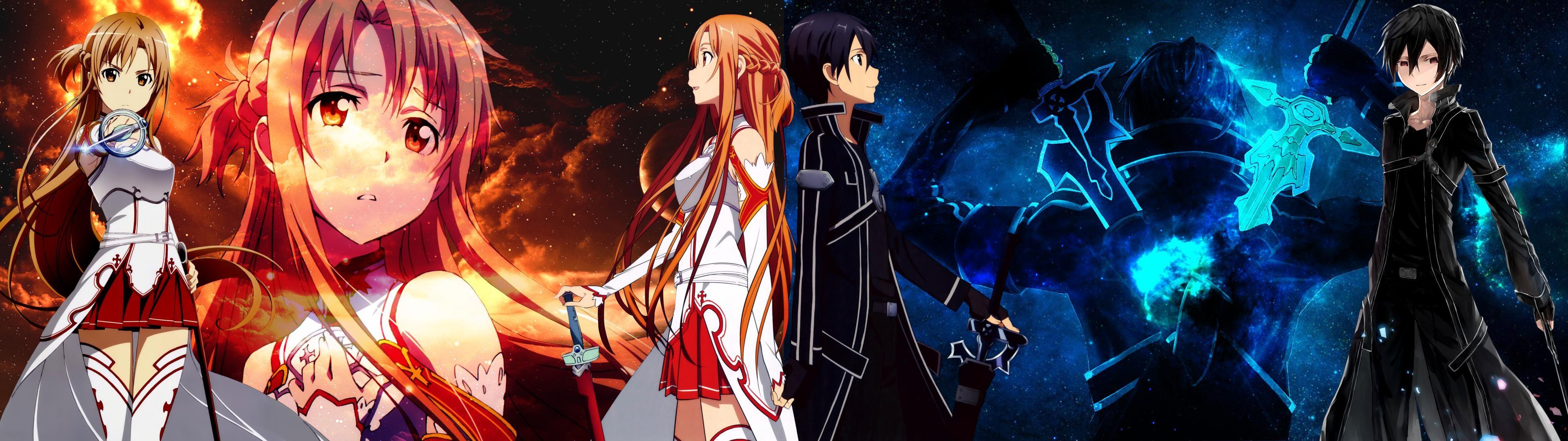 wallpaper : anime, sword art online, kirigaya kazuto, yuuki asuna