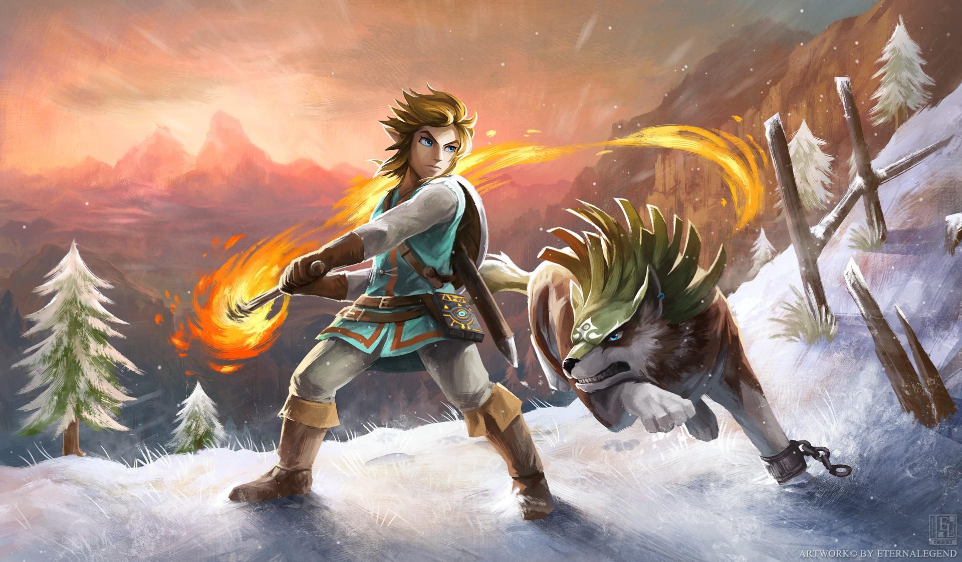 Wallpaper Anime The Legend Of Zelda Breath Of The Wild Nintendo