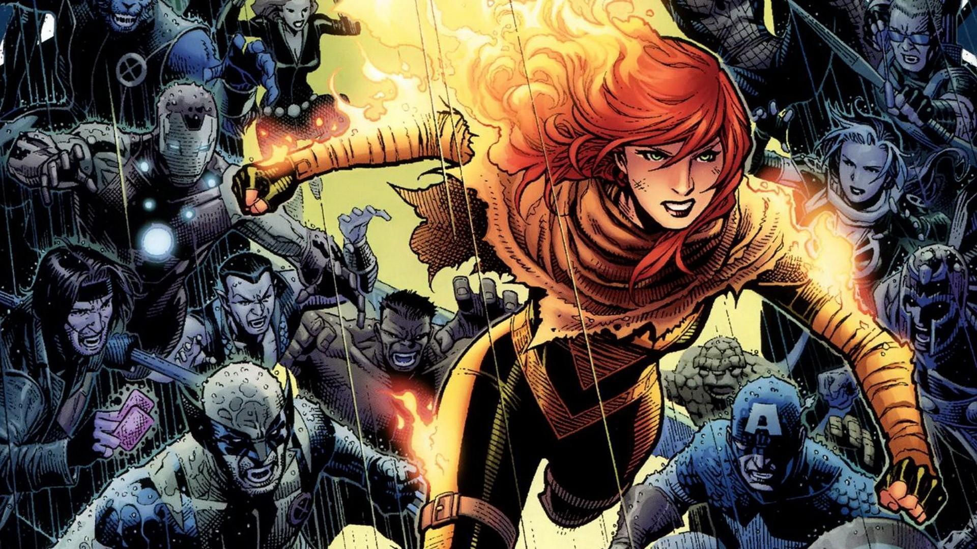 Wallpaper Anime Wolverine Marvel Comics Captain America