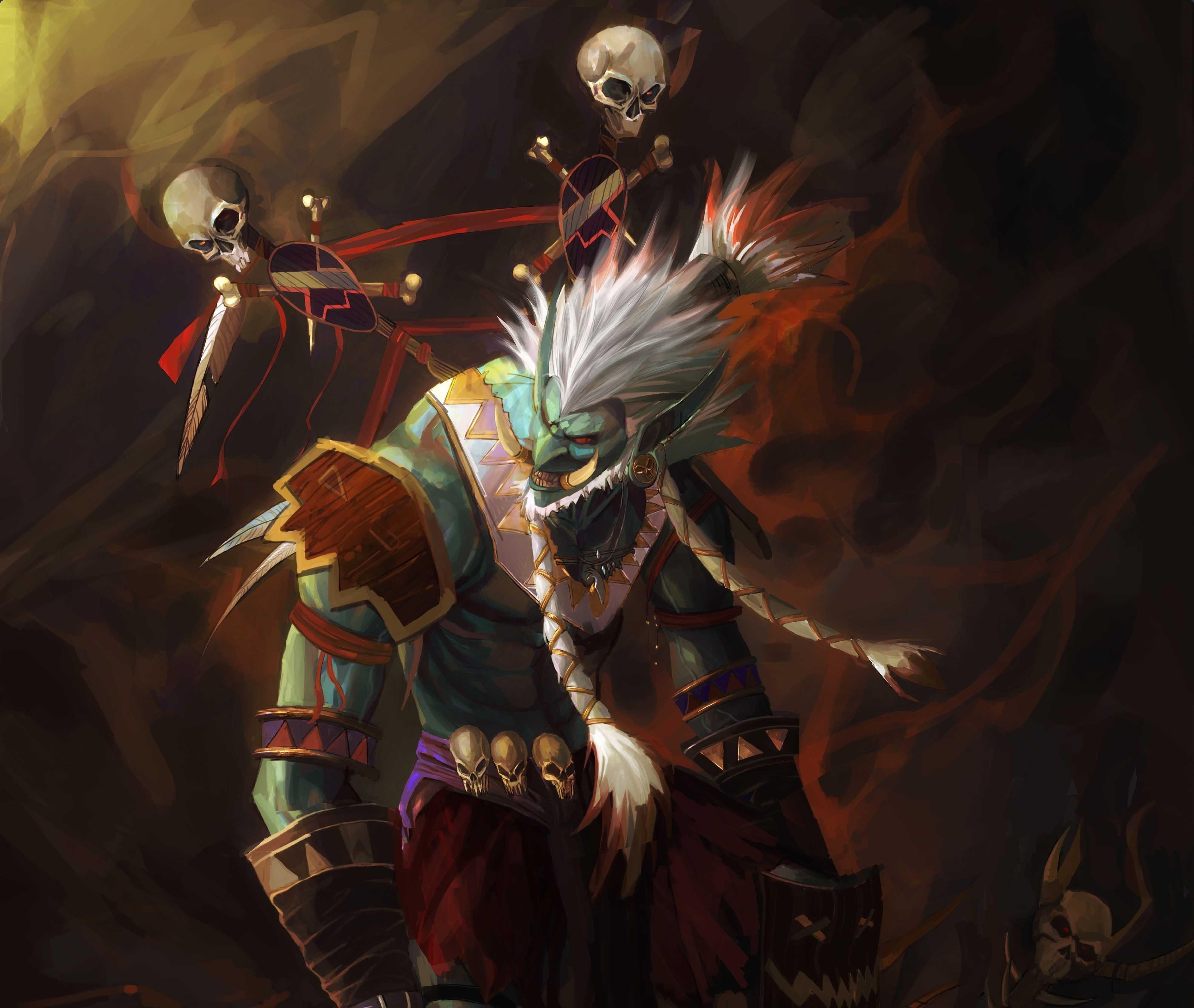 Wallpaper Anime World Of Warcraft Comics Mythology Shaman