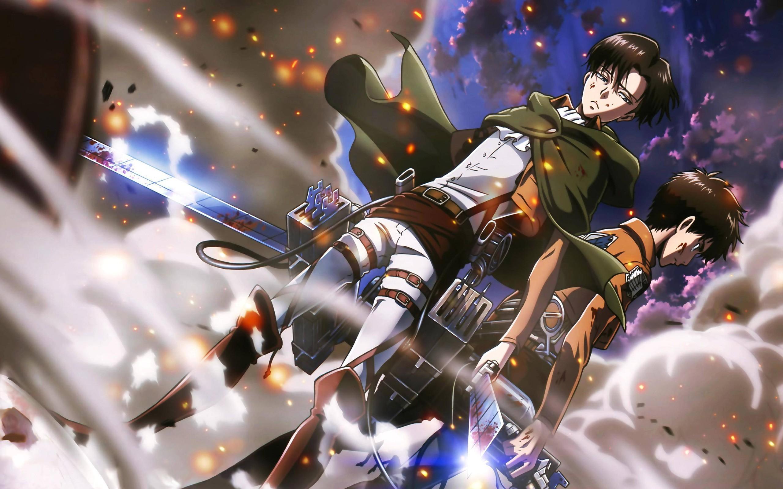 Fond D Ecran Anime Garcons Anime Shingeki No Kyojin Eren Jeager Levi Ackerman Capture D Ecran 2560x1600 Px Papier Peint De L Ordinateur 2560x1600 Wallup 576396 Fond D Ecran Wallhere