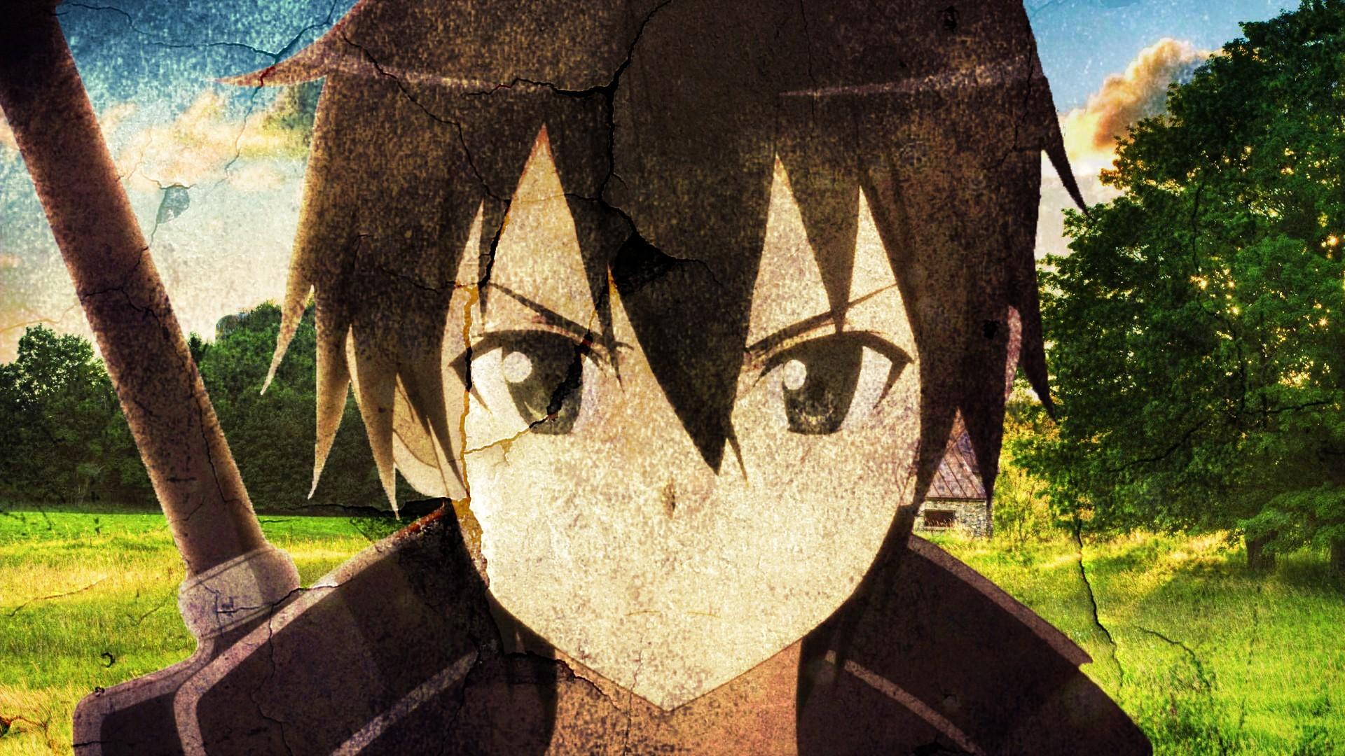 Wallpaper Anime Boys Brunette Sword Art Online Kirigaya