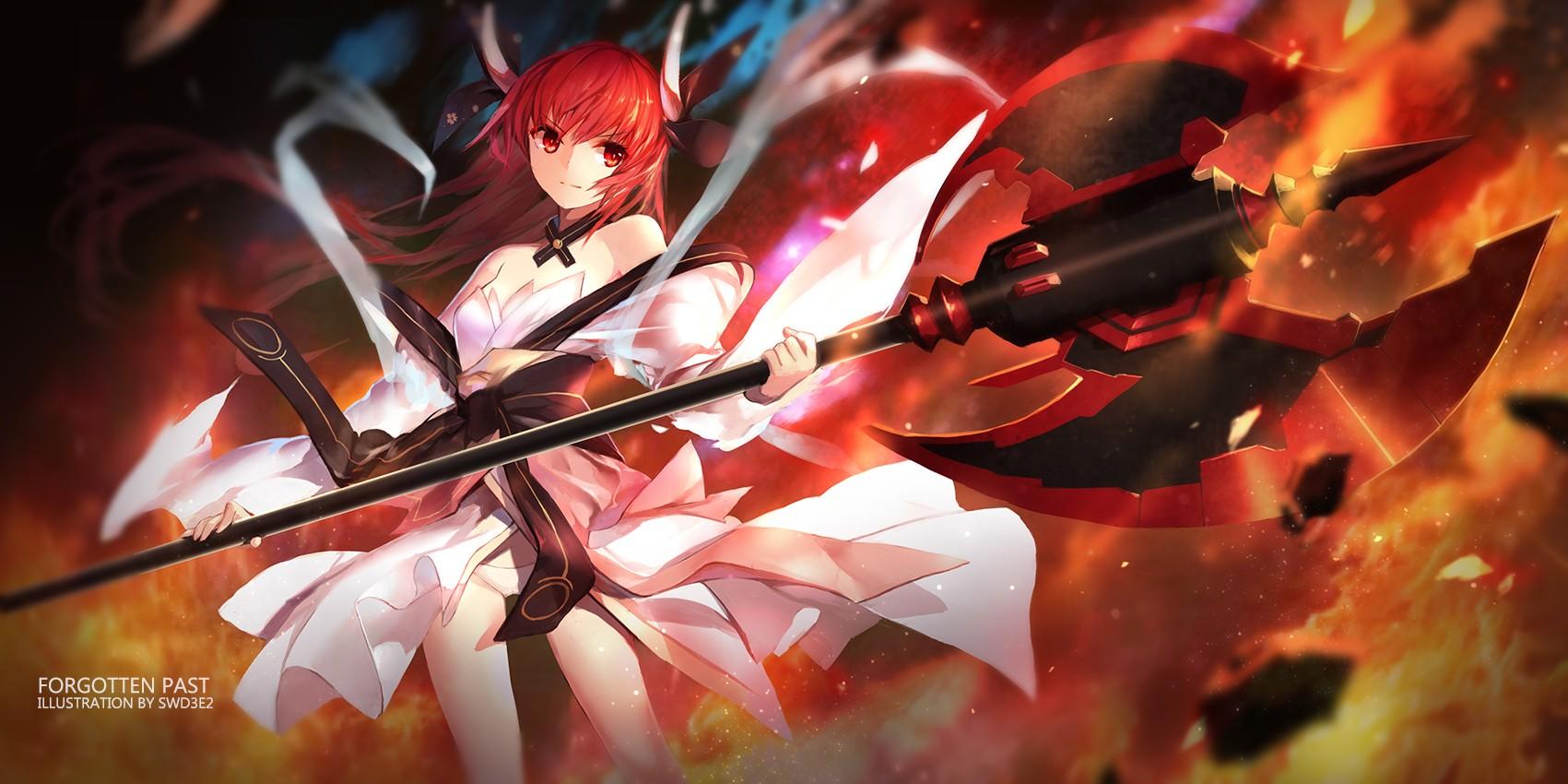Anime Girls Date A Live Red Fire Itsuka Kotori Swd3e2 Flower Flame Screenshot Computer Wallpaper