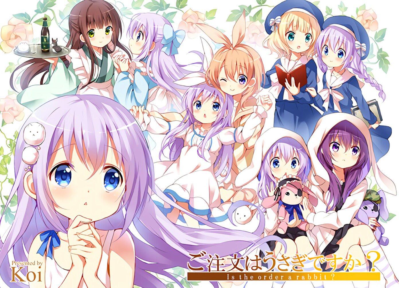 Wallpaper Anime Girls Gochuumon Wa Usagi Desu Ka White Skin