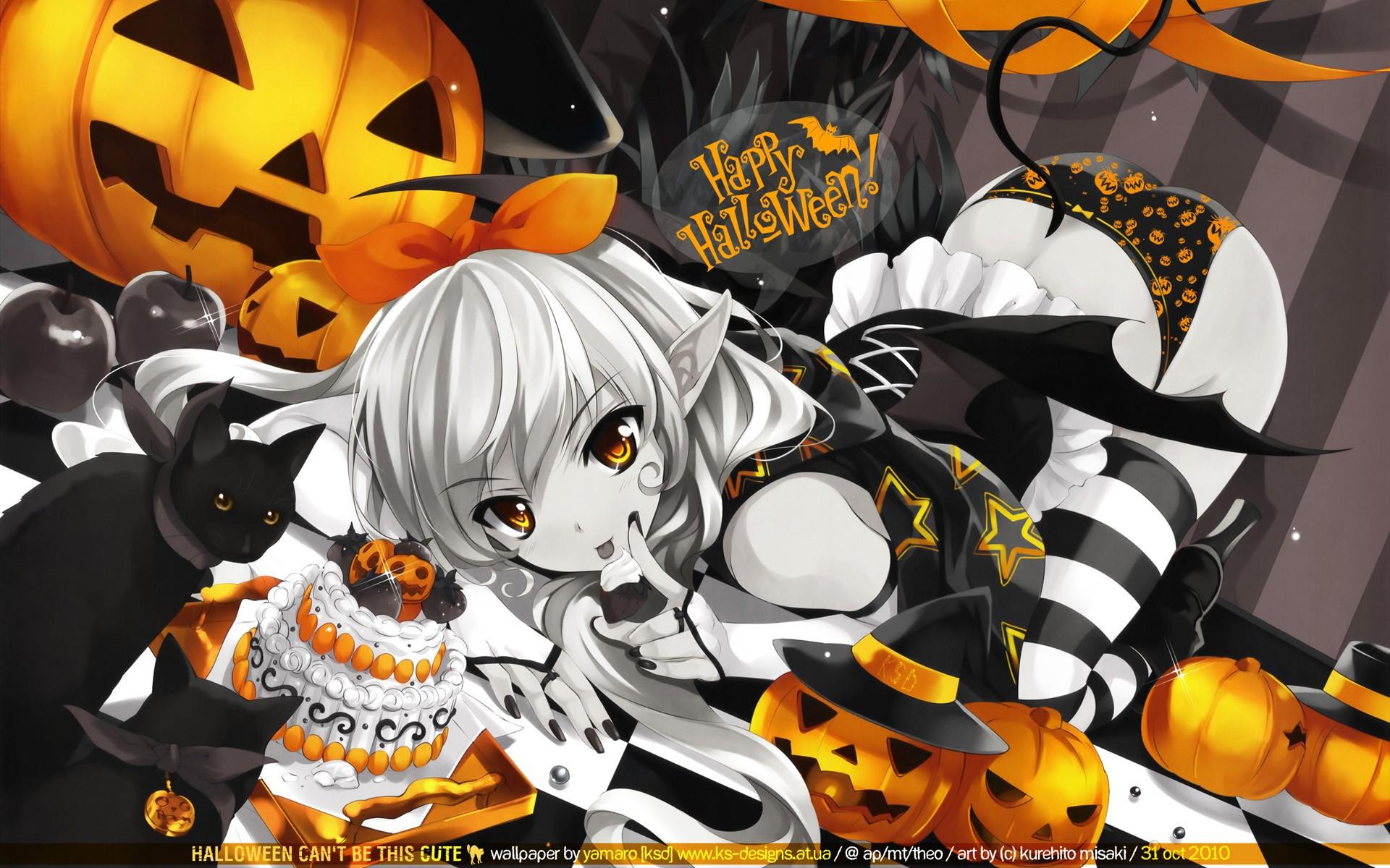 Wallpaper : anime girls, Halloween, comics 1920x1200 ...