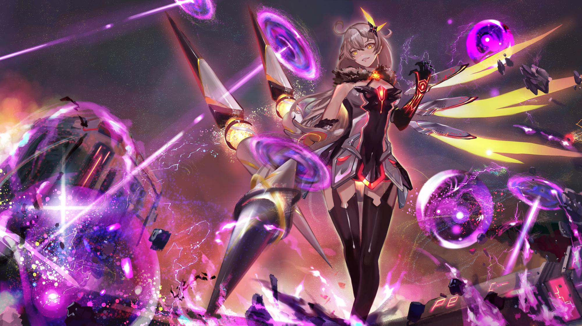 Wallpaper Anime Girls Honkai Impact 2000x1120