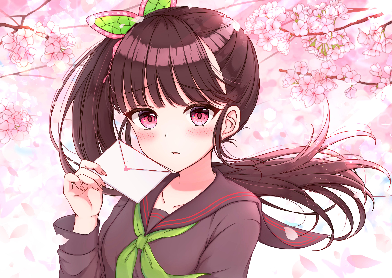 Wallpaper Anime Girls Kimetsu No Yaiba Kanao Tsuyuri School Uniform Sakura Blossom 4553x3226 Fff214 1831717 Hd Wallpapers Wallhere