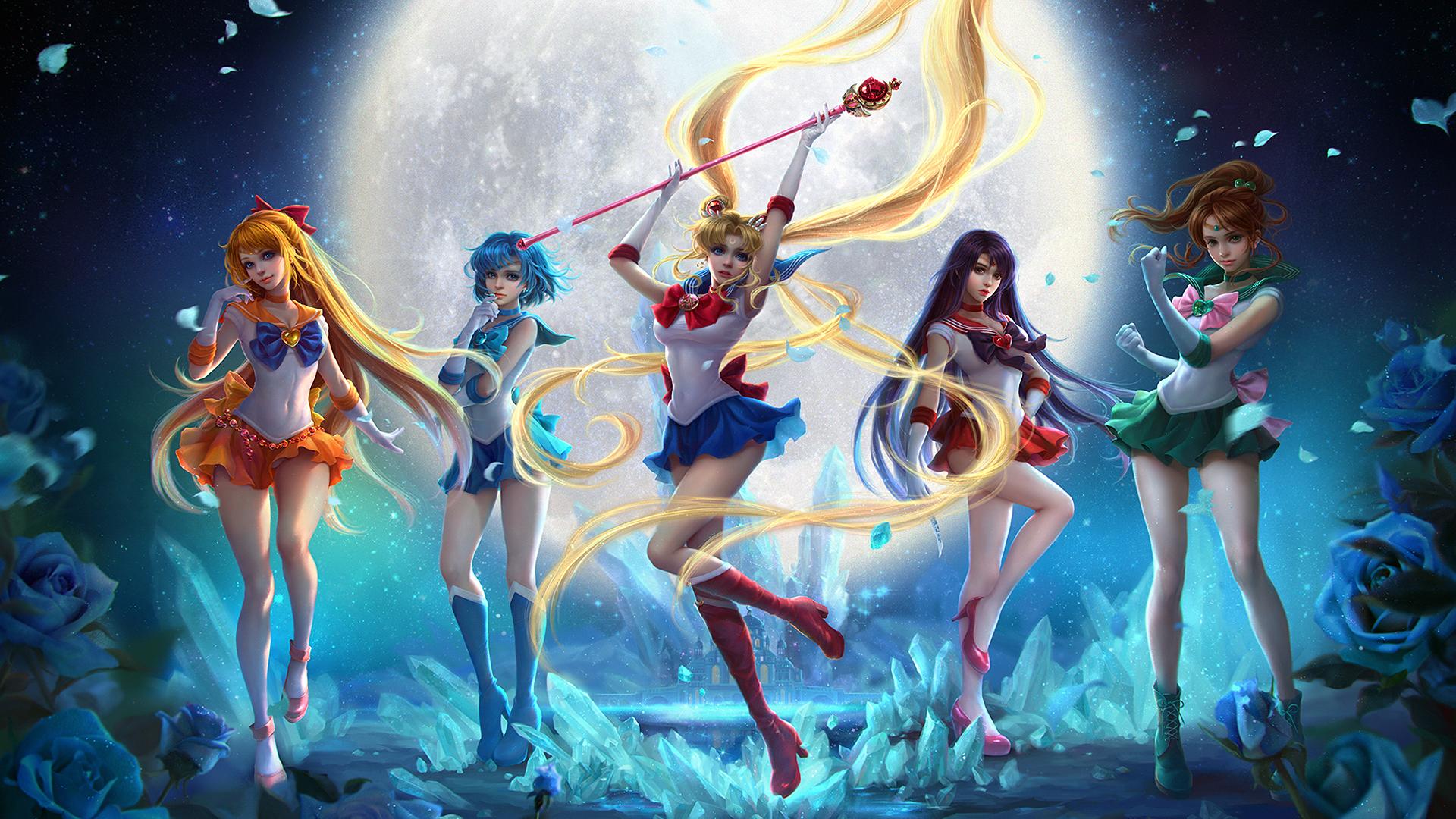 wallpaper anime girls sailor moon usagi tsukino sailor mars
