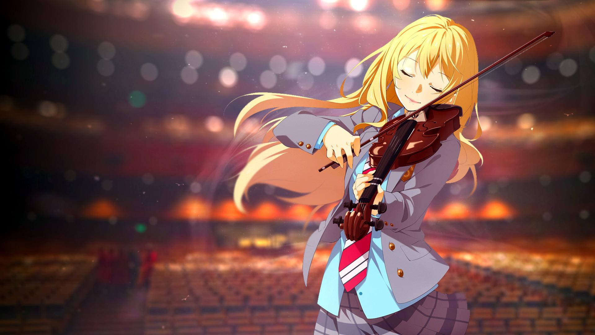 Wallpaper Anime Girls Shigatsu Wa Kimi No Uso Blonde Long
