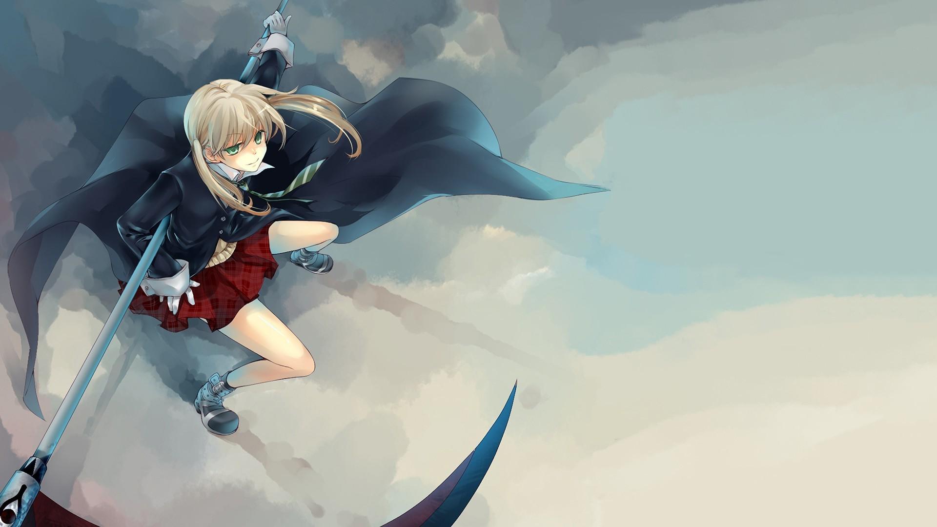 Wallpaper Anime Girls Soul Eater Blue Maka Albarn