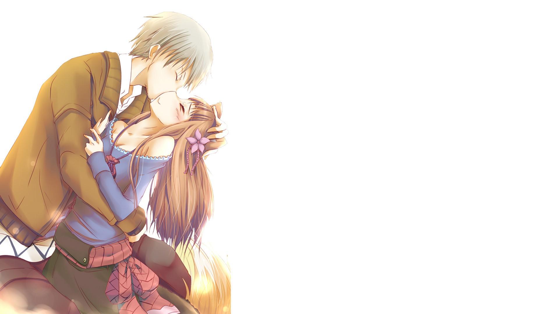 Anime Girls Boys Cartoon Kissing Holo Spice And Wolf Okamimimi Lawrence Kraft Hand Finger