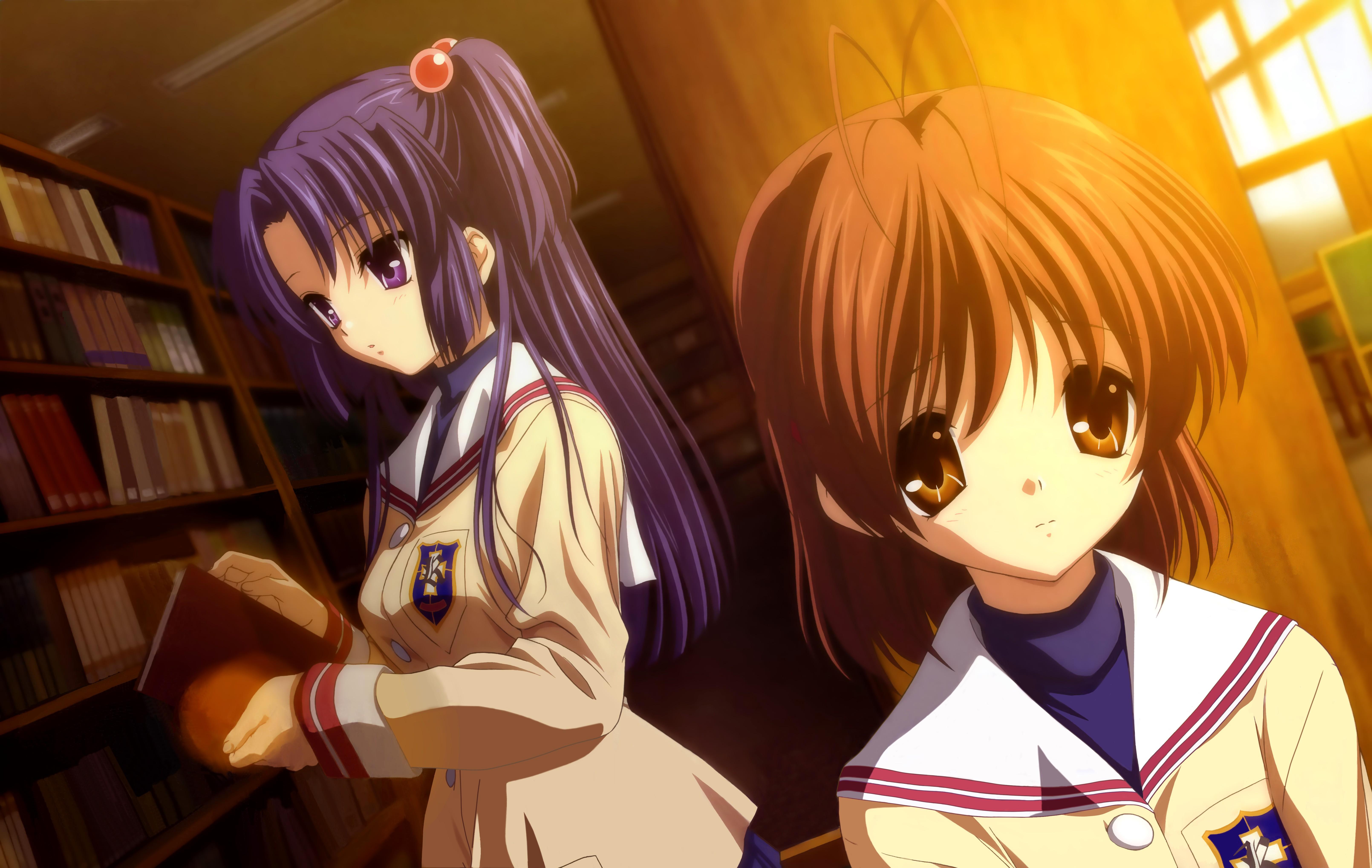 Wallpaper Anime Girls Artwork Clannad Screenshot Mangaka