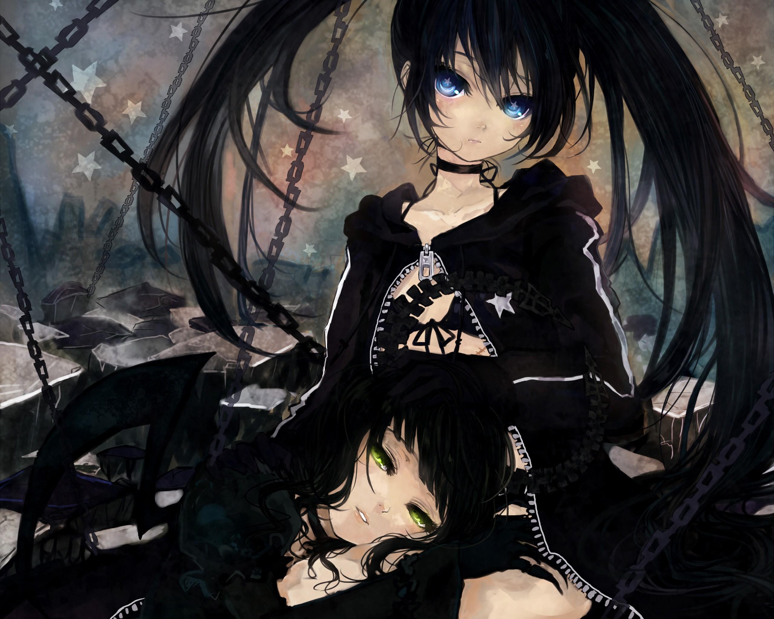 Темные картинки аниме девушек