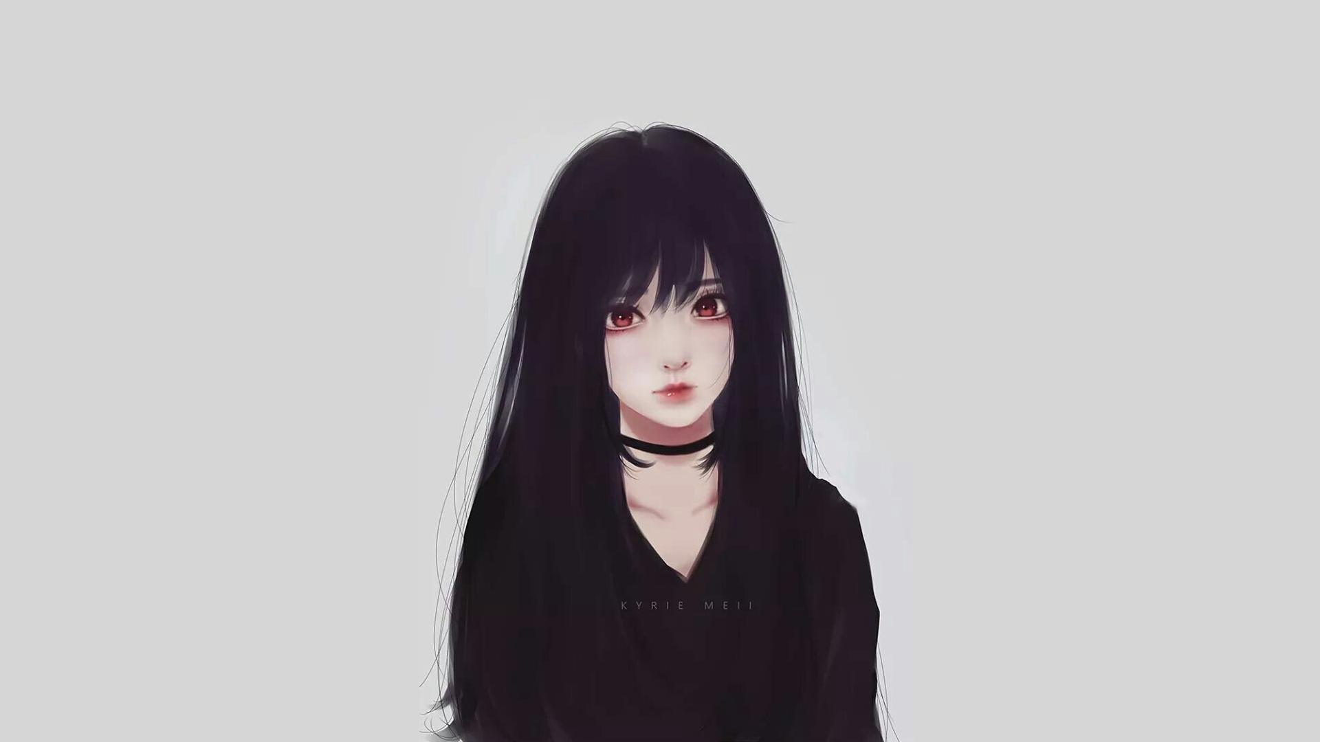 Wallpaper Anime Girls Black Hair Kyrie Meii 1920x1080