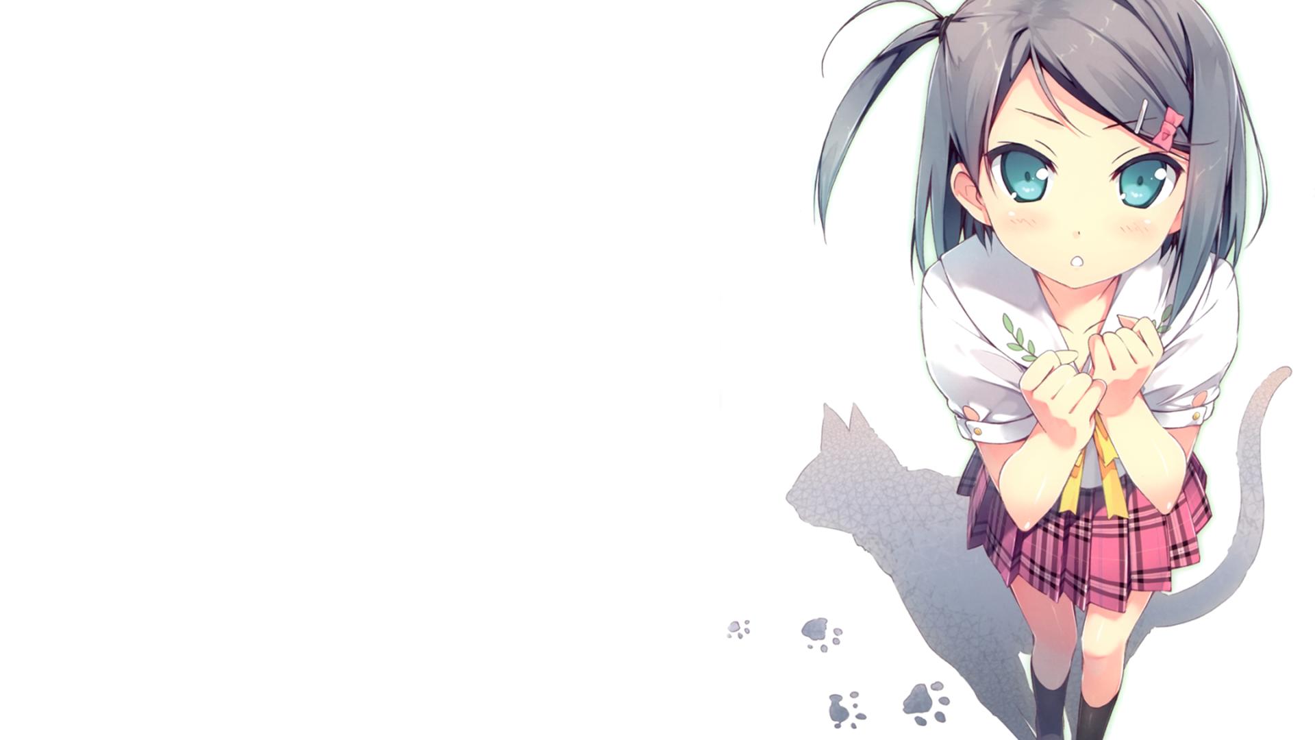 Wallpaper  Anime Girls, Black Hair, Blue Eyes, School Uniform, Hentai Ouji To -6833