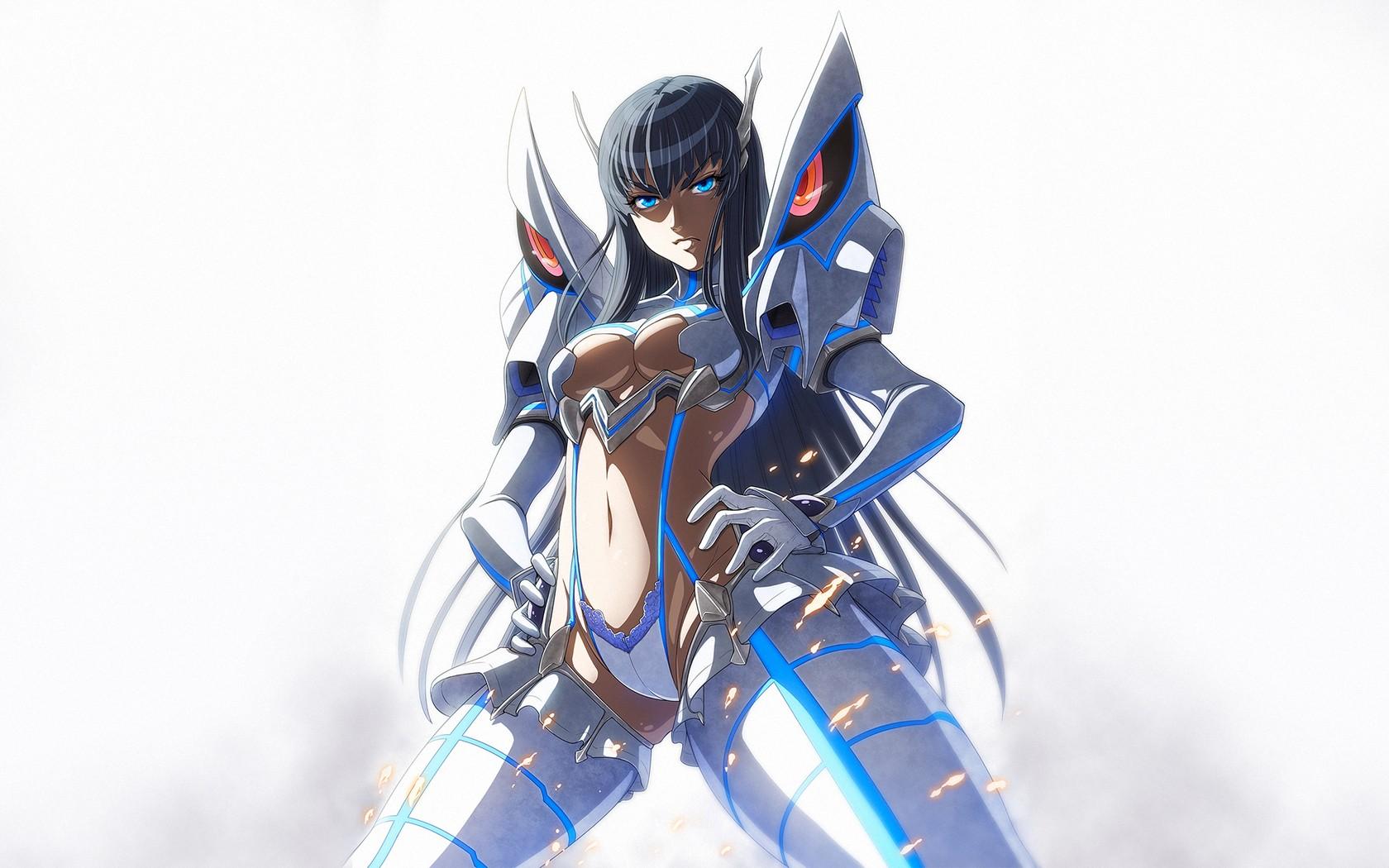 Wallpaper Anime Girls Blue Kill La Kill Kiryuin Satsuki