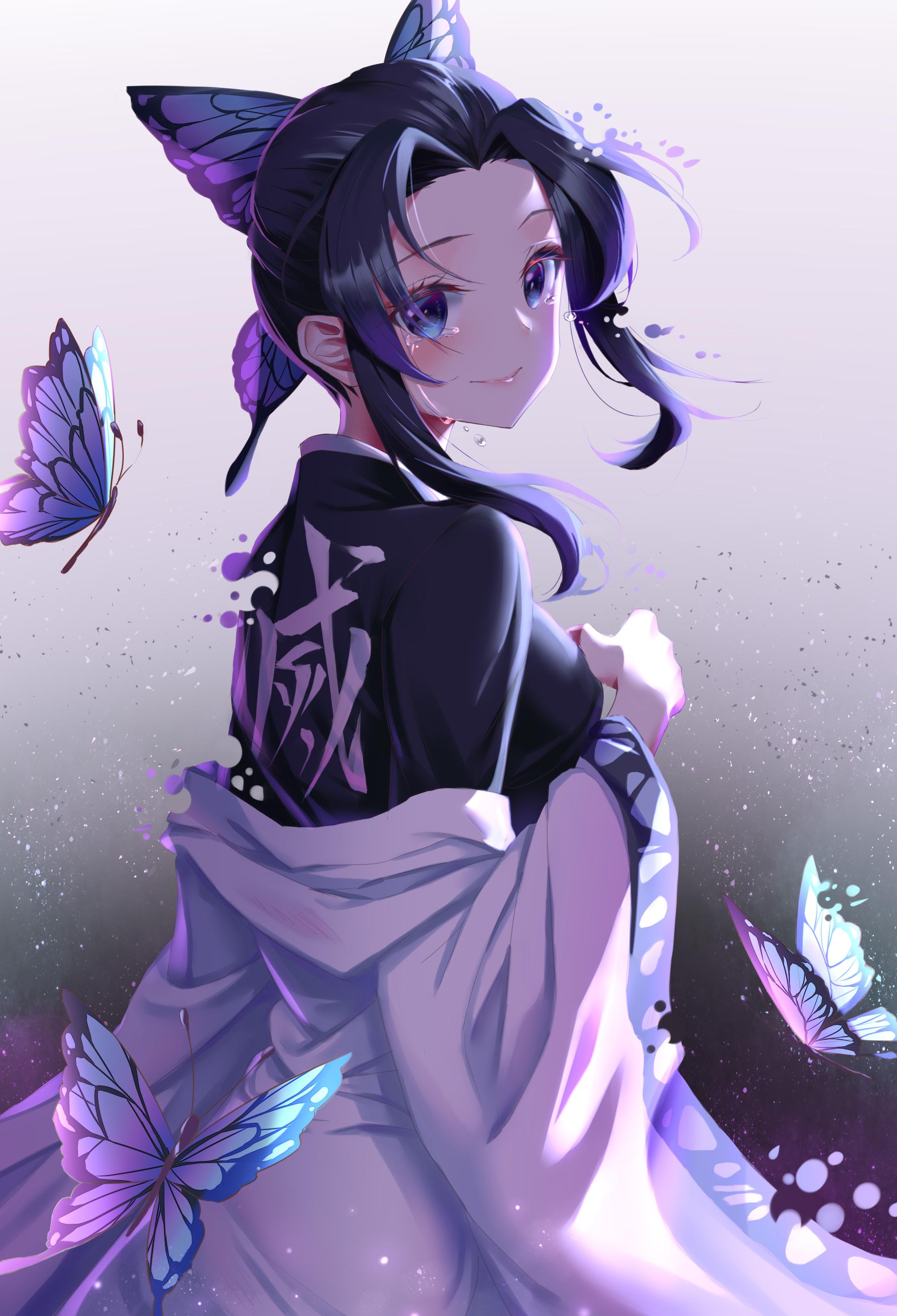 Wallpaper Gadis Anime Seni Digital Karya Seni Tampilan Potret Vertikal 2d Kimetsu No Yaiba Kochou Shinobu 2000x2933 Acgacheng 1662375 Hd Wallpapers Wallhere