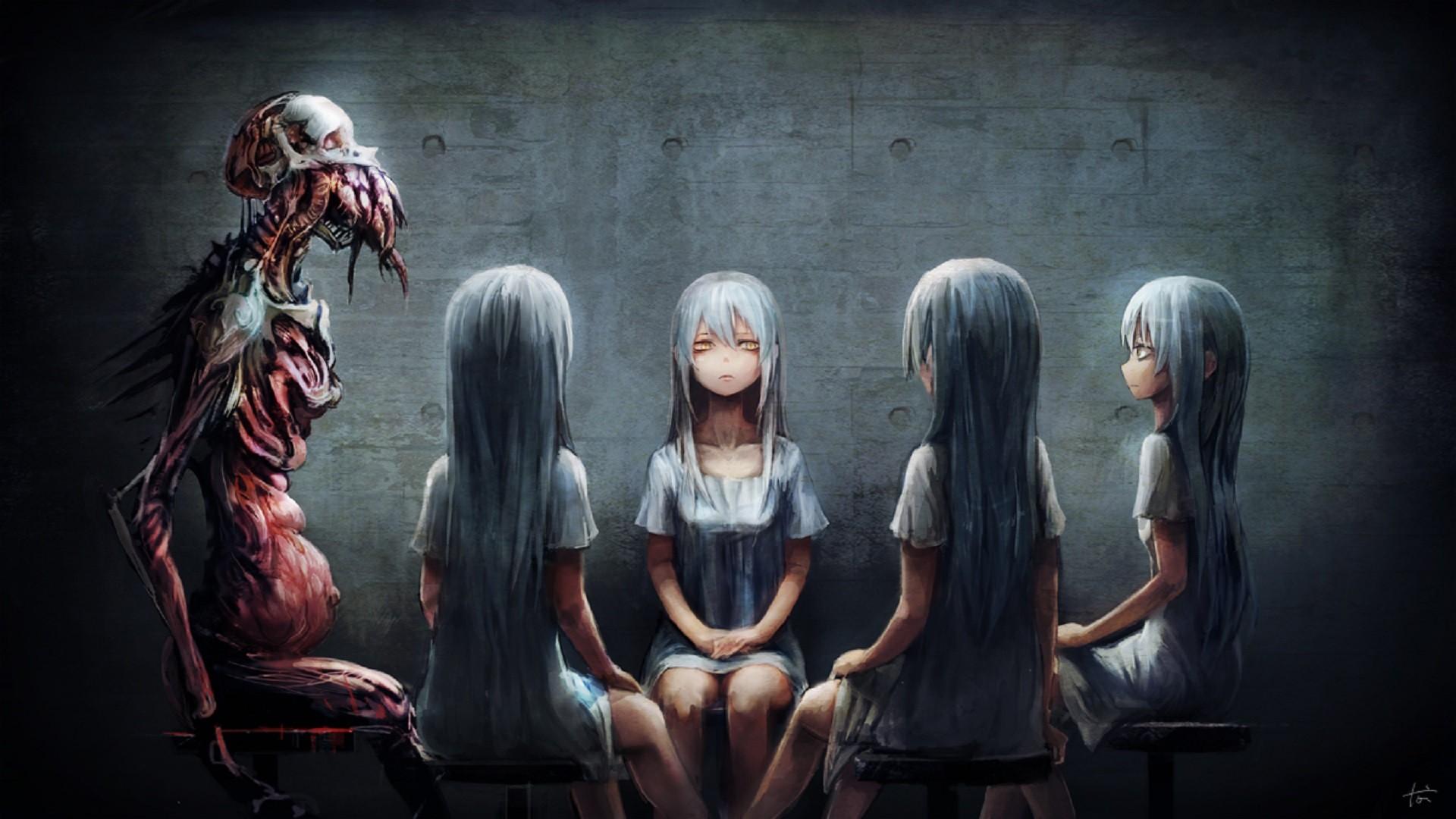 Fond D Ecran Anime Filles Anime Horreur Obscurite Capture D