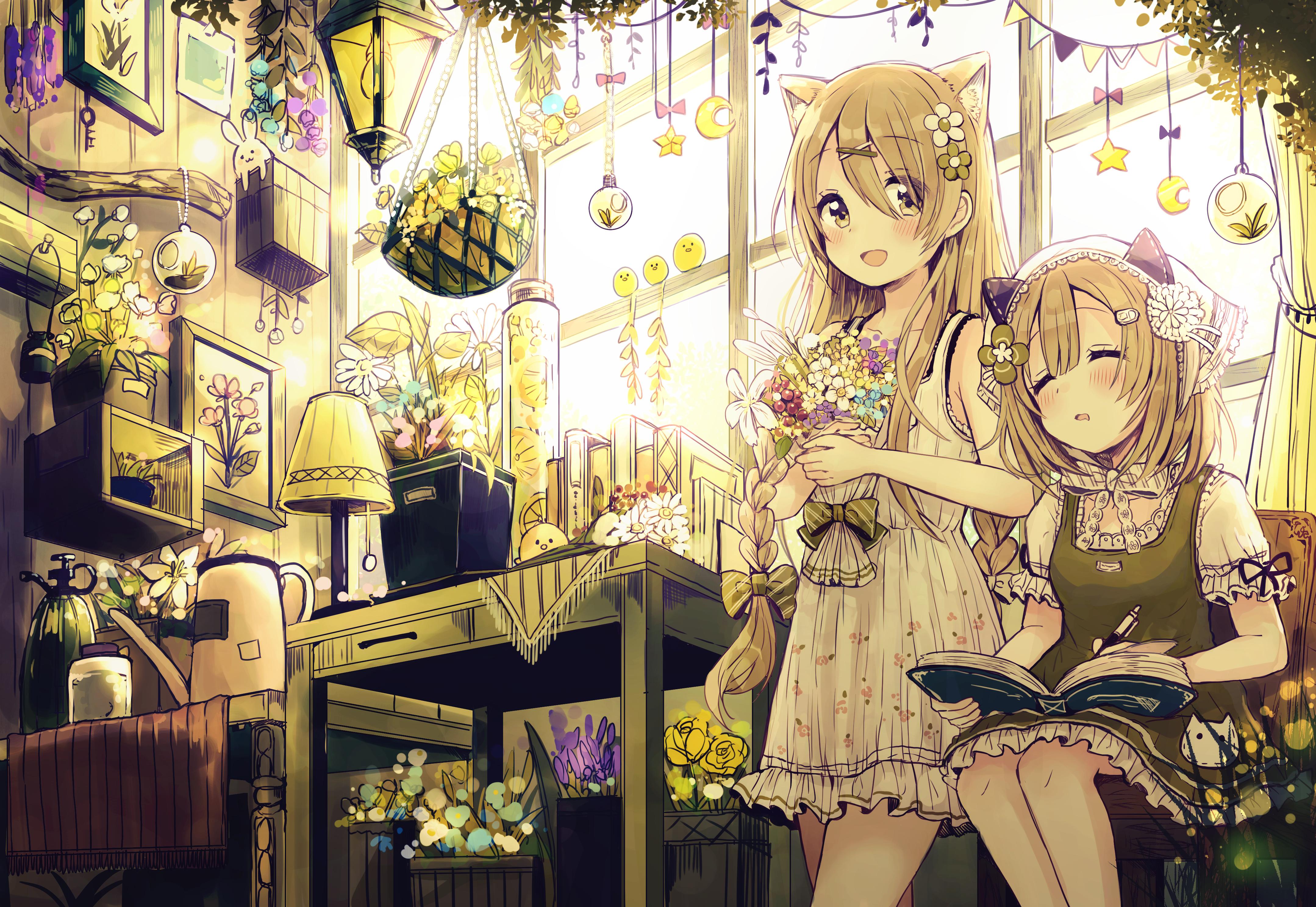 Fondos De Pantalla Anime Chicas Anime Linterna Orejas
