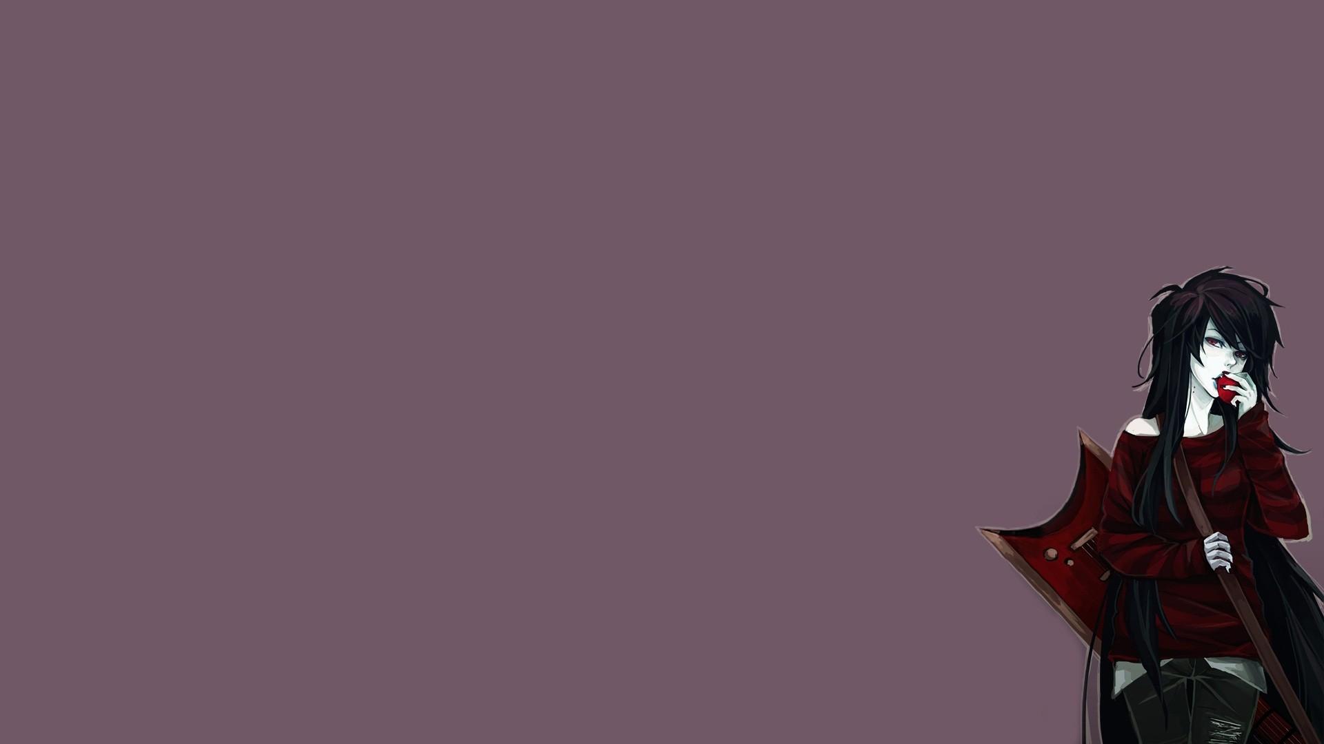 Anime Girls Minimalism Adventure Time Marceline The Vampire Queen Screenshot Computer Wallpaper