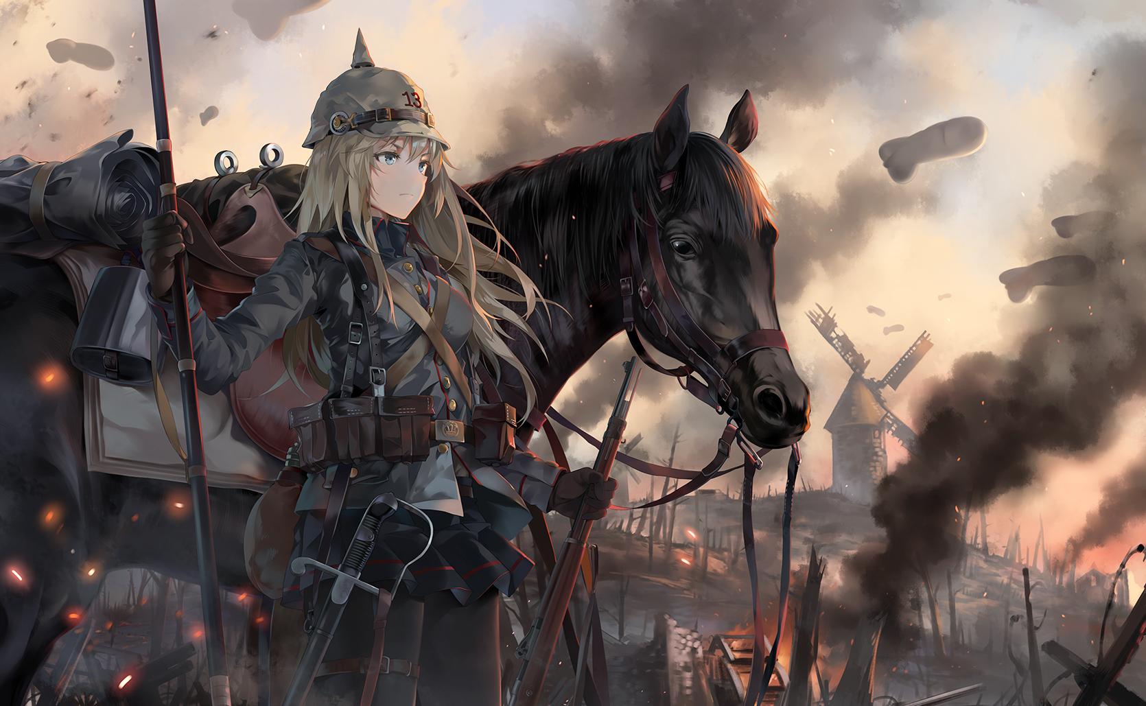 Wallpaper anime girls original characters neko - Anime war wallpaper ...