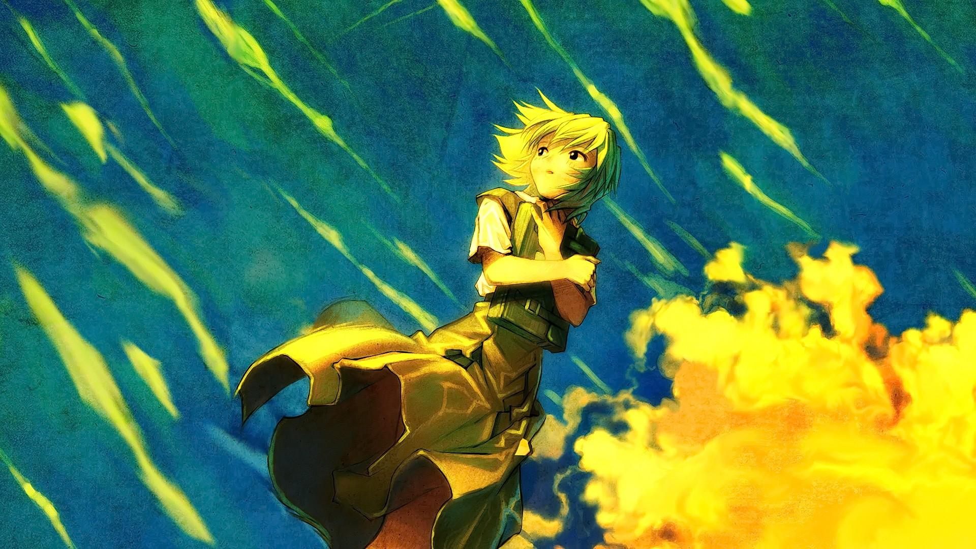 Neon Yellow Anime Wallpaper - Anime Wallpaper HD
