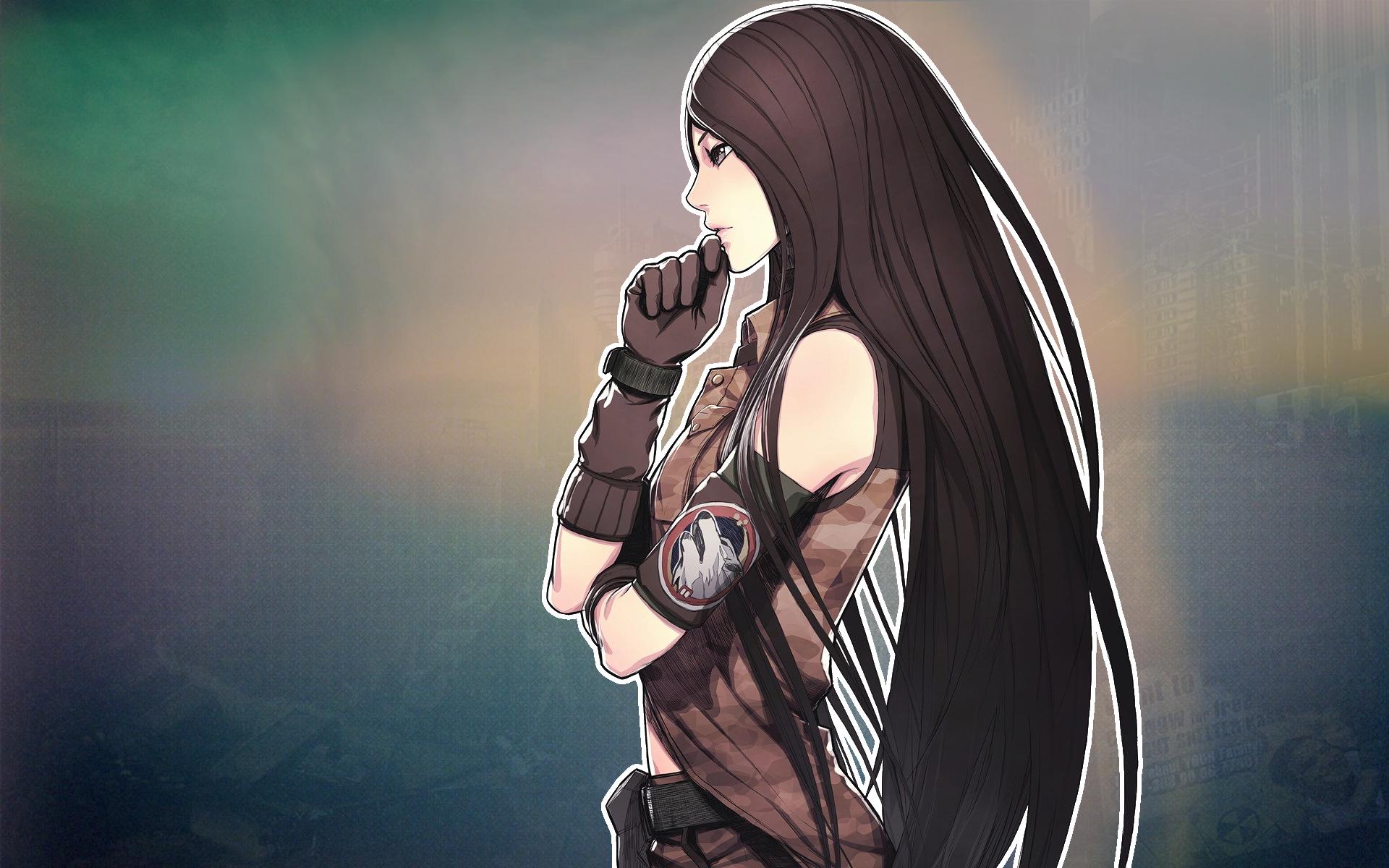 Wallpaper Anime Girls War Video Games Long Hair Advance Wars