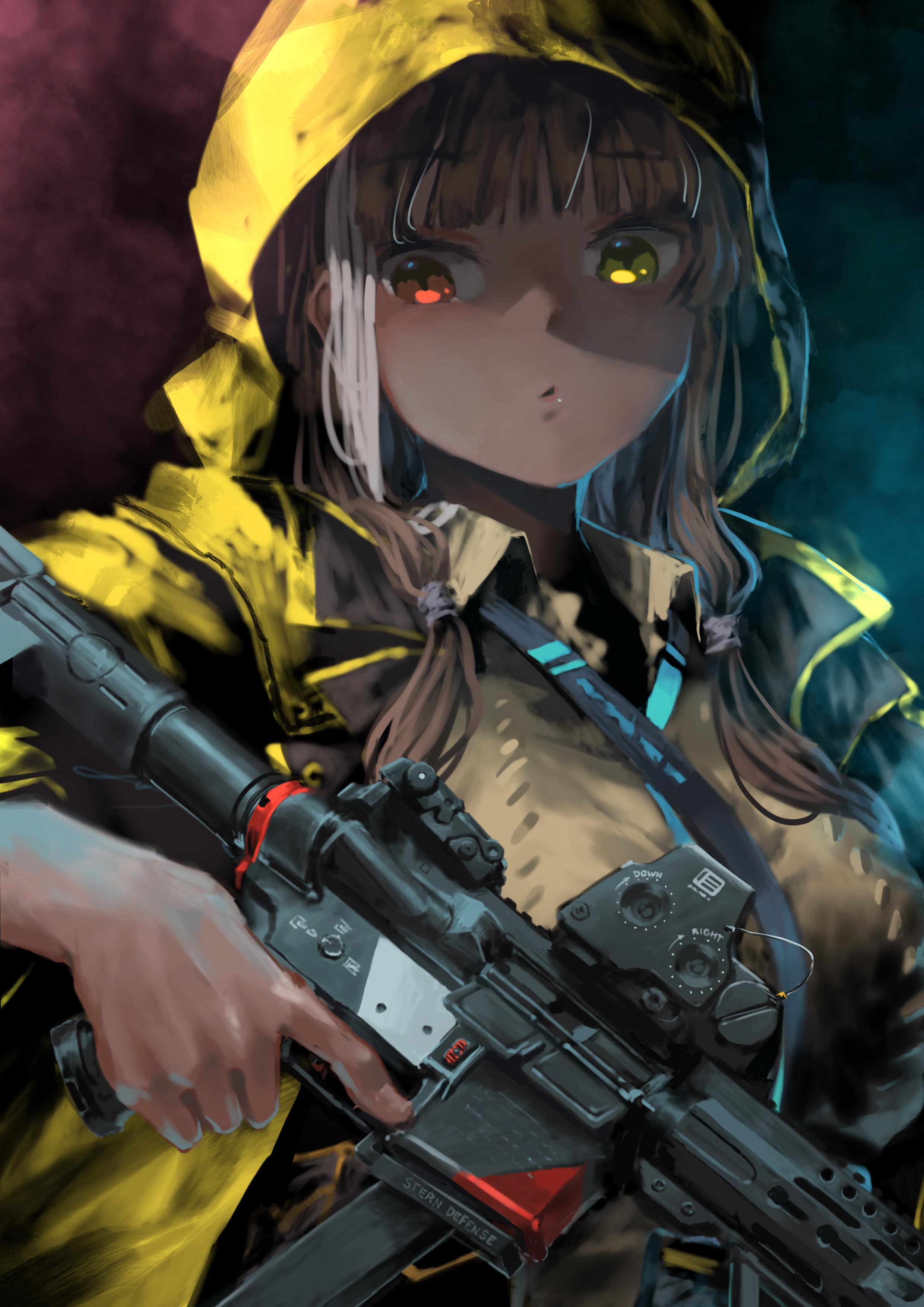 Wallpaper Anime Girls White Hair Red Eyes Yellow Eyes Gun Girls Frontline 2480x3508 Richs 1619315 Hd Wallpapers Wallhere