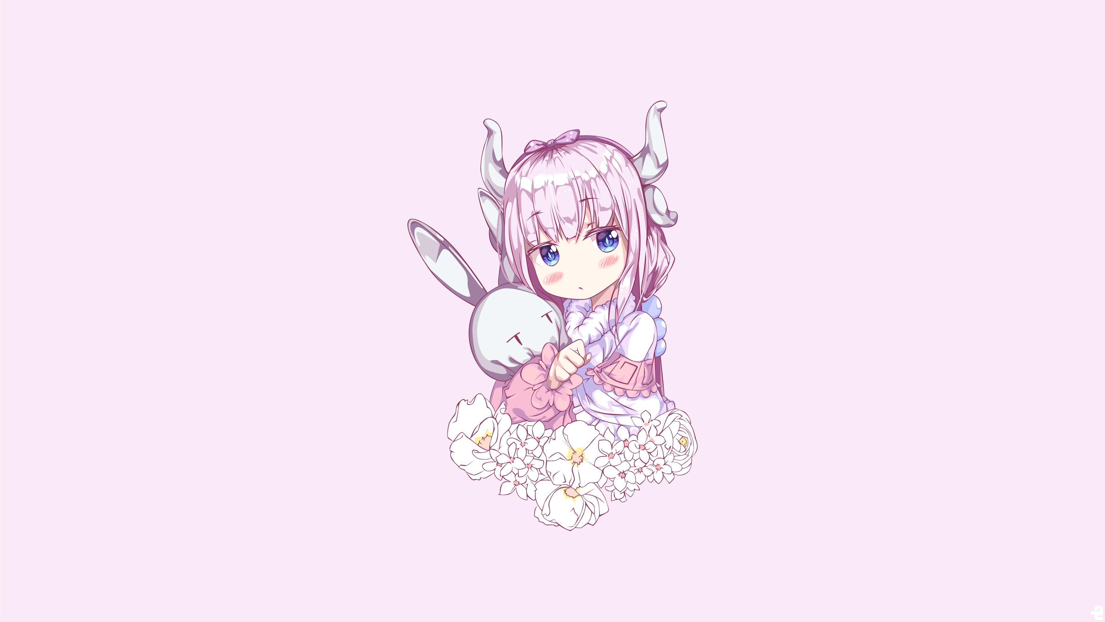 デスクトップ壁紙 アニメの女の子 白い肌 小林さんちのメイド