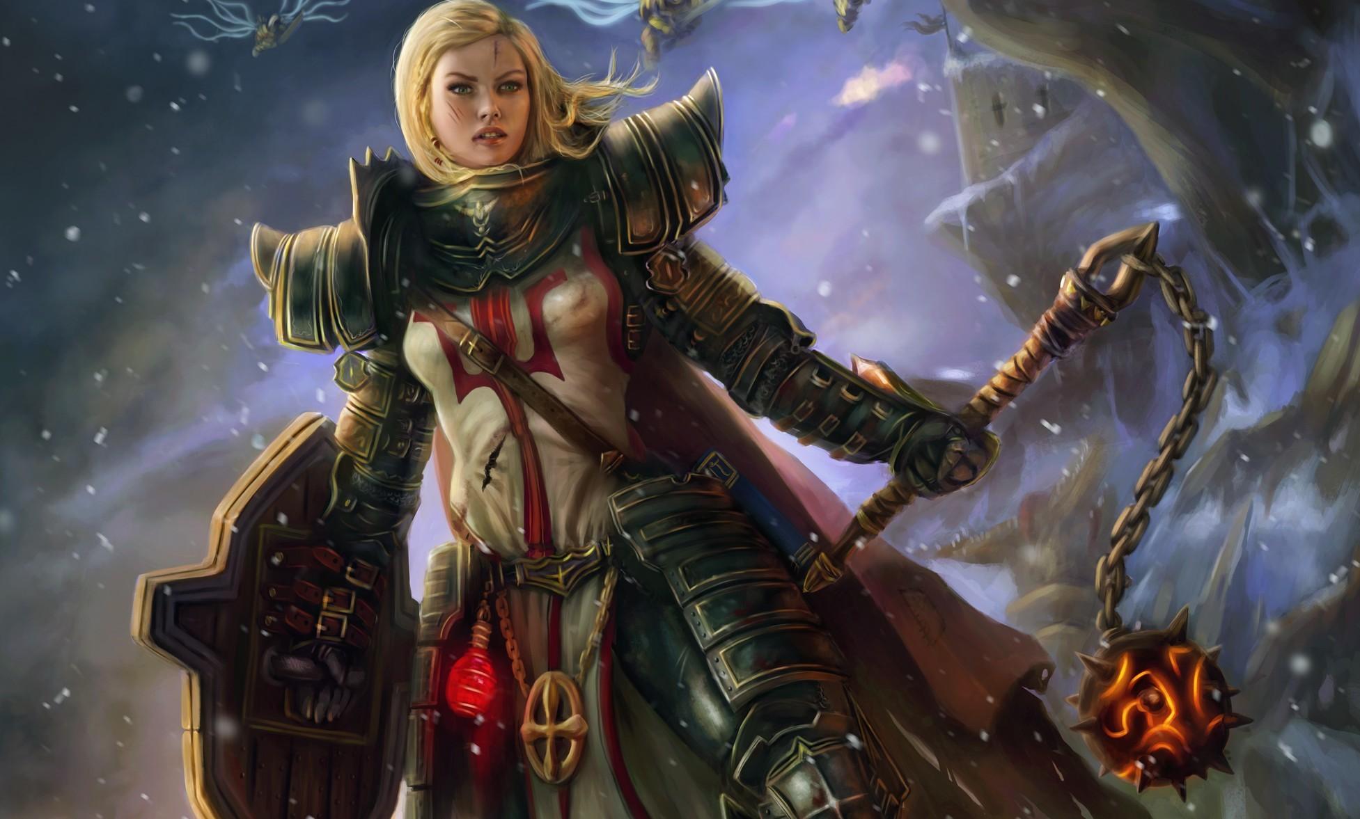 Wallpaper : Anime, Armor, Shield, Diablo III, Mythology