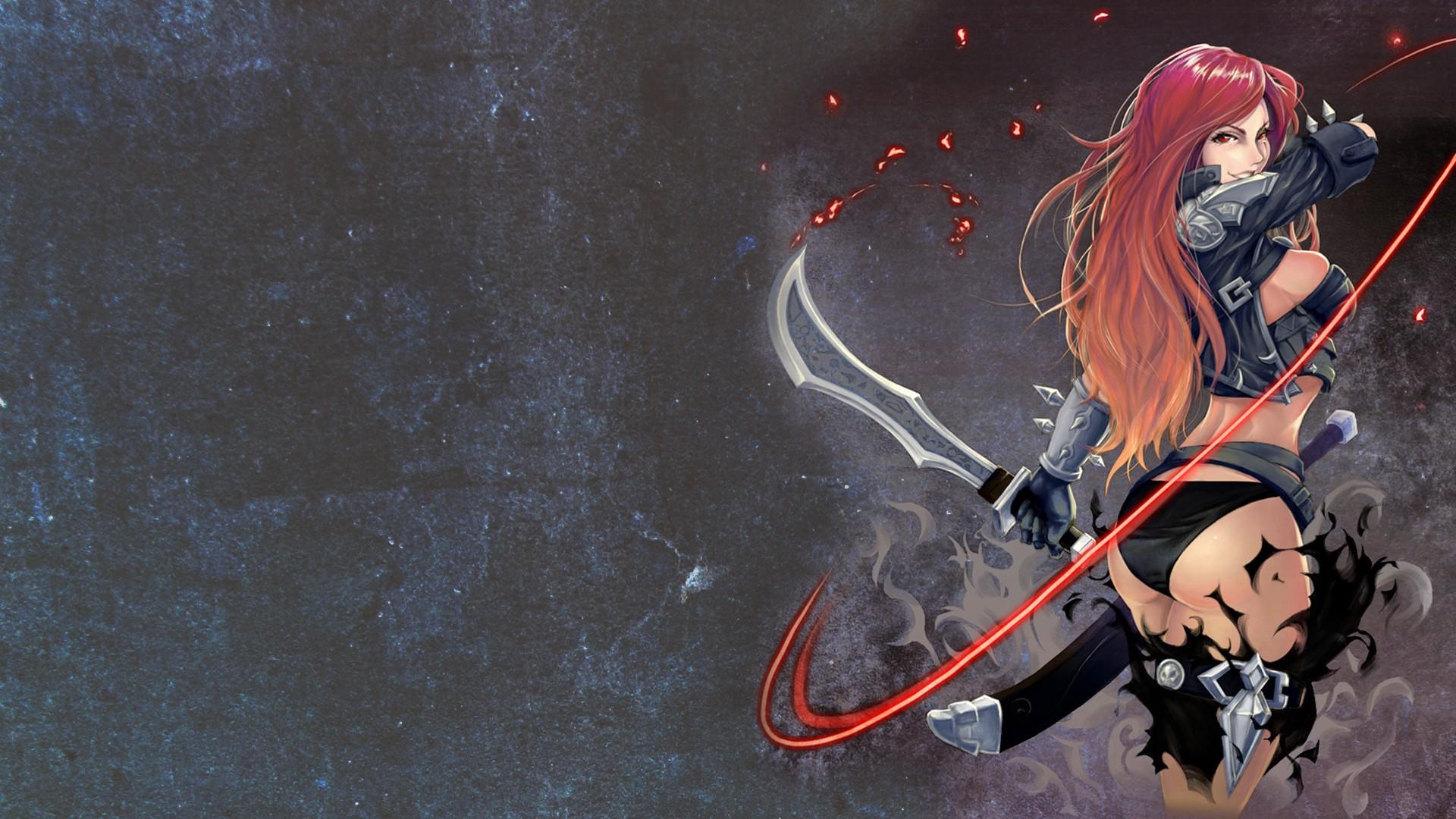Wallpaper Anime Ass League Of Legends Sword Katarina