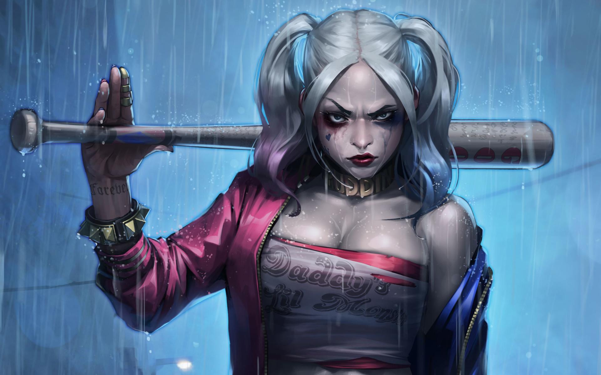 Wallpaper Anime Blue Dc Comics Harley Quinn Suicide Squad