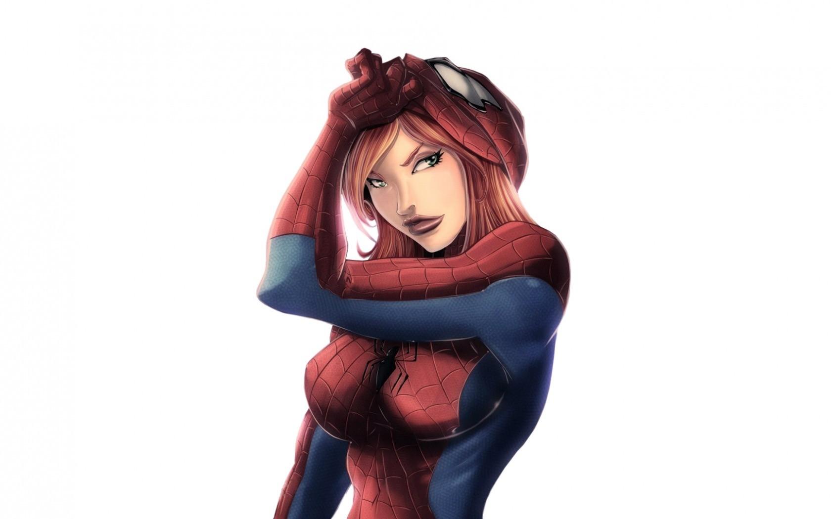 Anime cartoon marvel comics mary jane toy superheroines spider girl figurine action figure