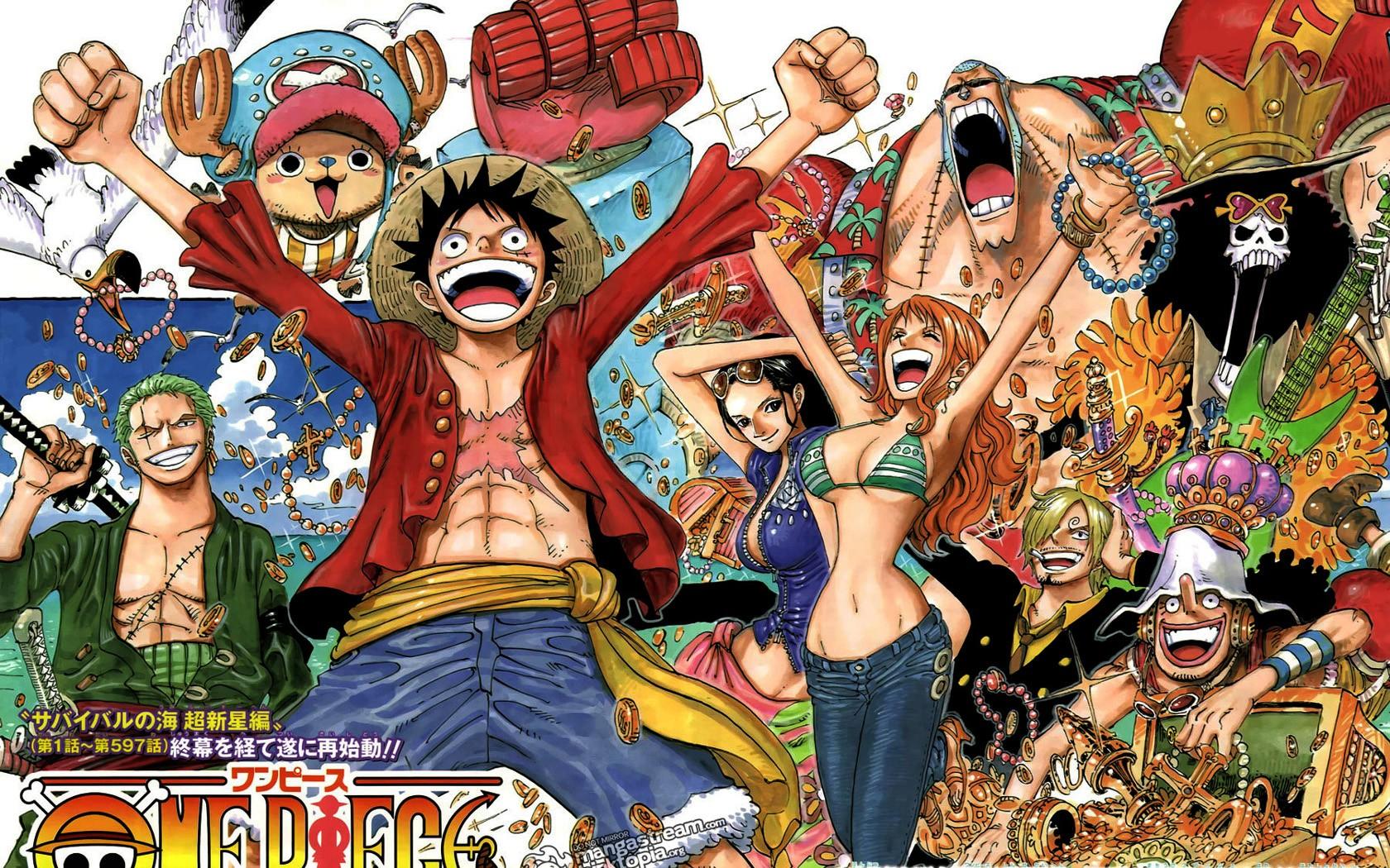 Wallpaper Anime Cartoon One Piece Sanji Monkey D Luffy