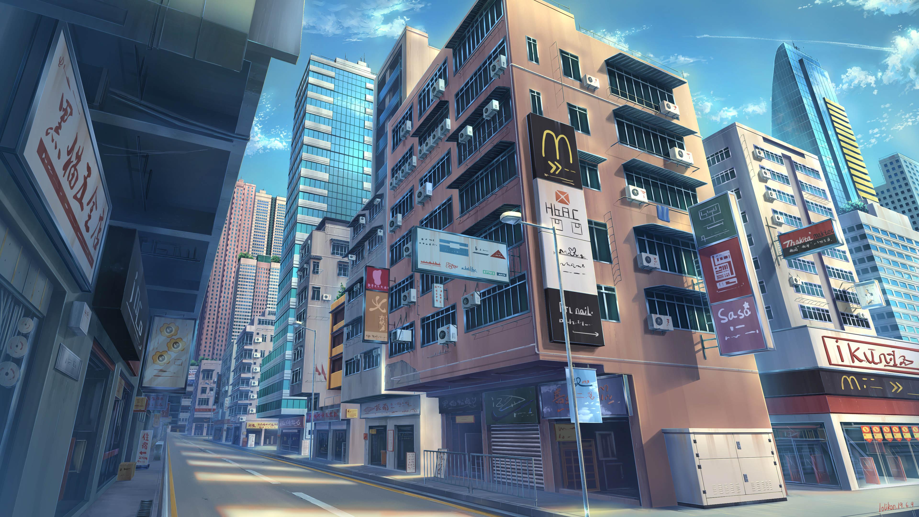 Wallpaper : anime, city 3840x2160 - rudrachl - 1659055 ...