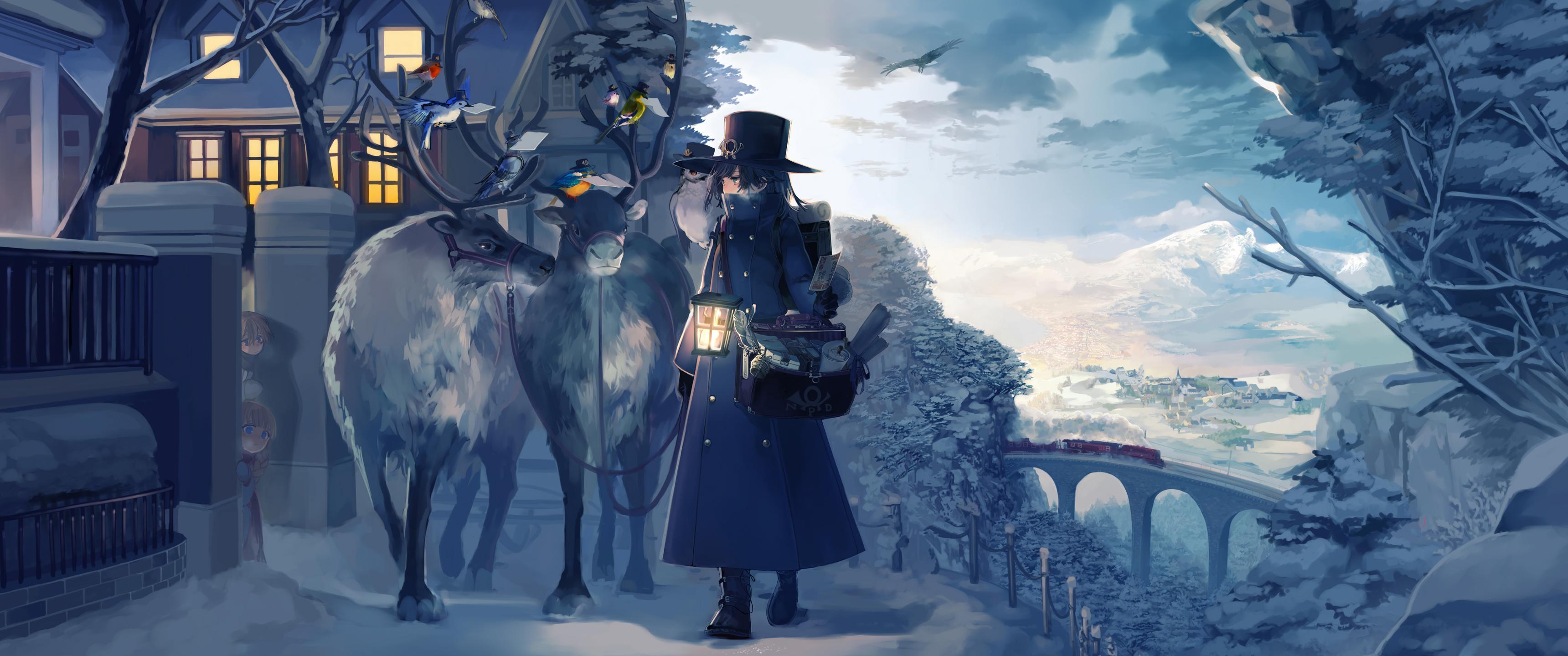 Wallpaper Anime Cold 3440x1440 Lurenjiamax 1244639 Hd