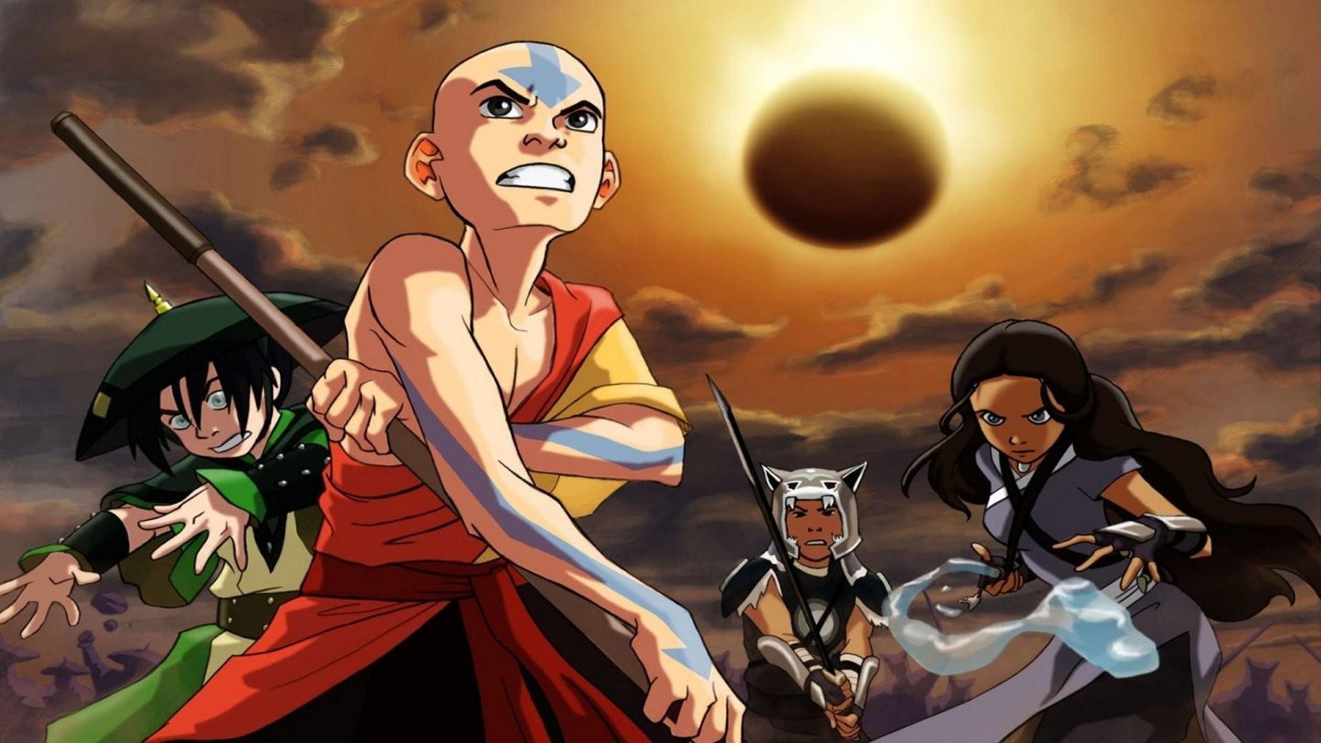 Anime Comics Avatar The Last Airbender Toph Beifong Aang Katara Sokka Screenshot