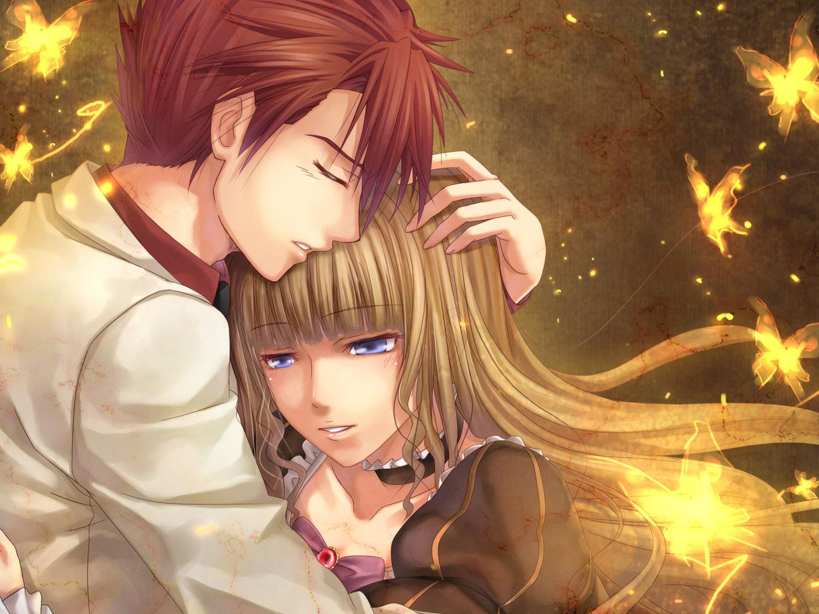 Новые аниме картинки любовь