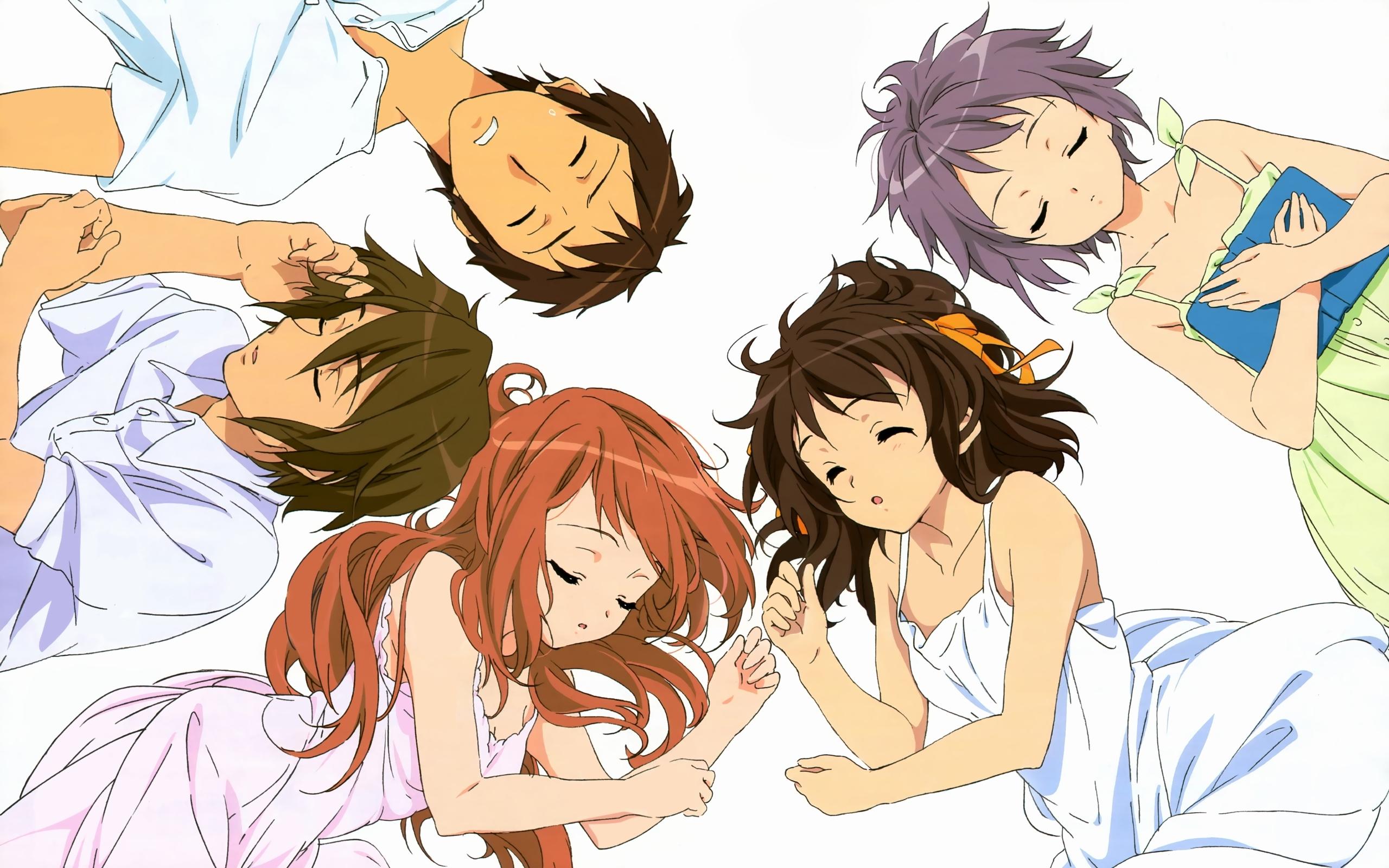 Wallpaper Anime Crowd Sleep Bed Top View 2560x1600 Wallpaperup 1093551 Hd Wallpapers Wallhere