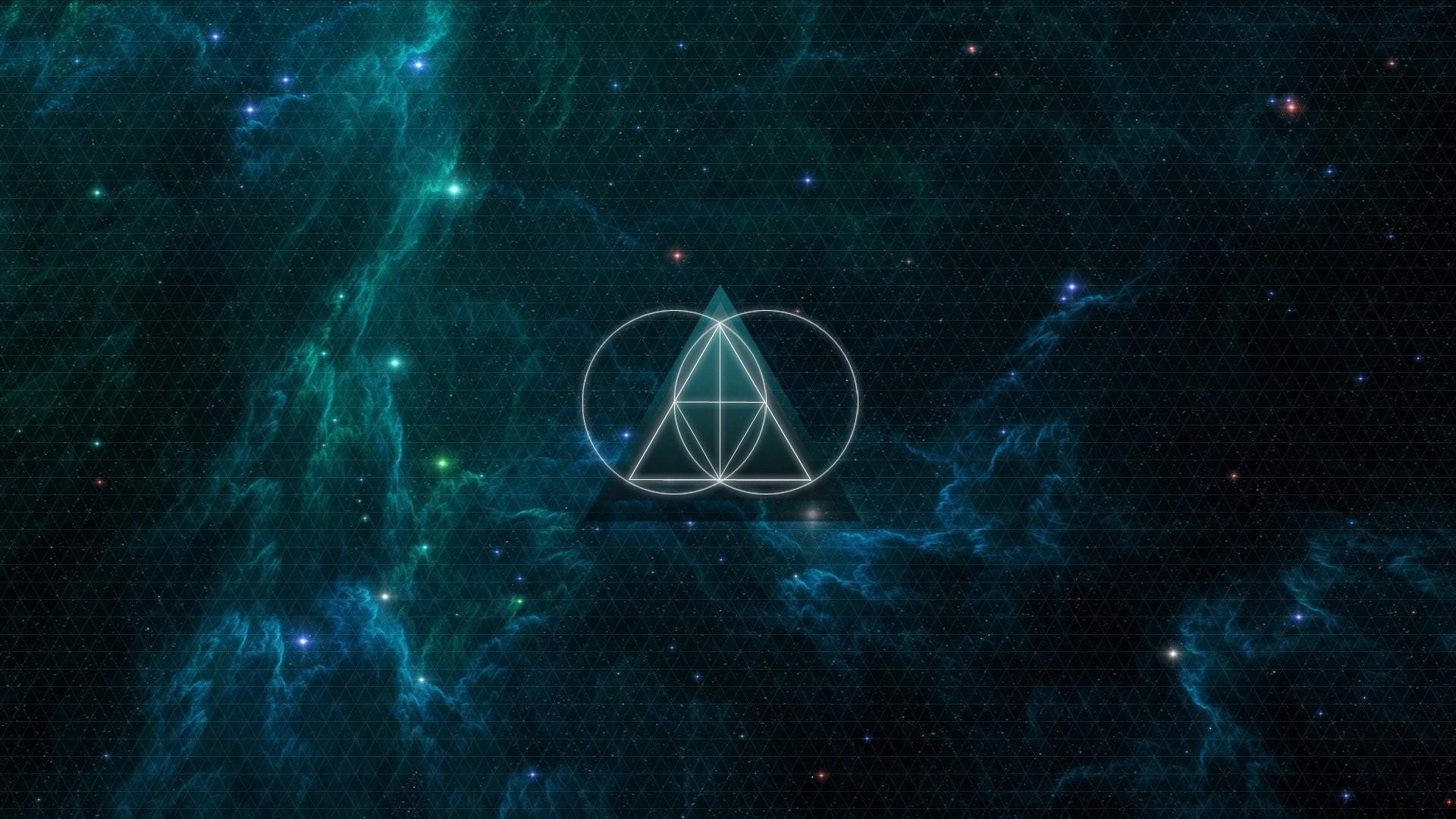 Wallpaper : anime, galaxy, minimalism, triangle, nebula ...