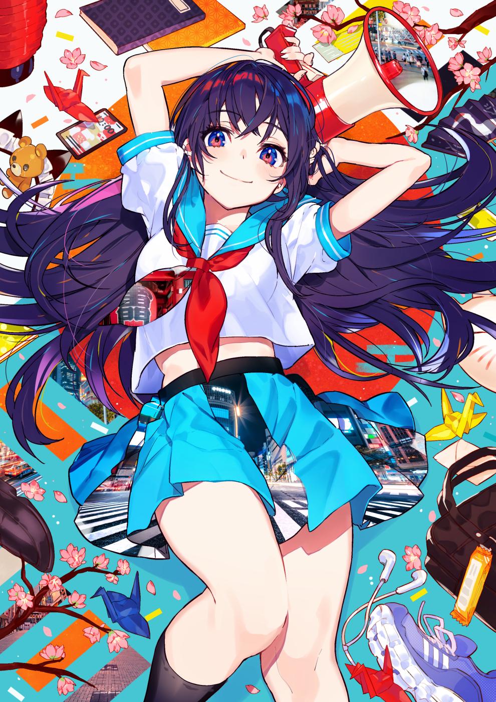 デスクトップ壁紙 アニメの女の子 元の文字 黒髪 ミカピカゾ