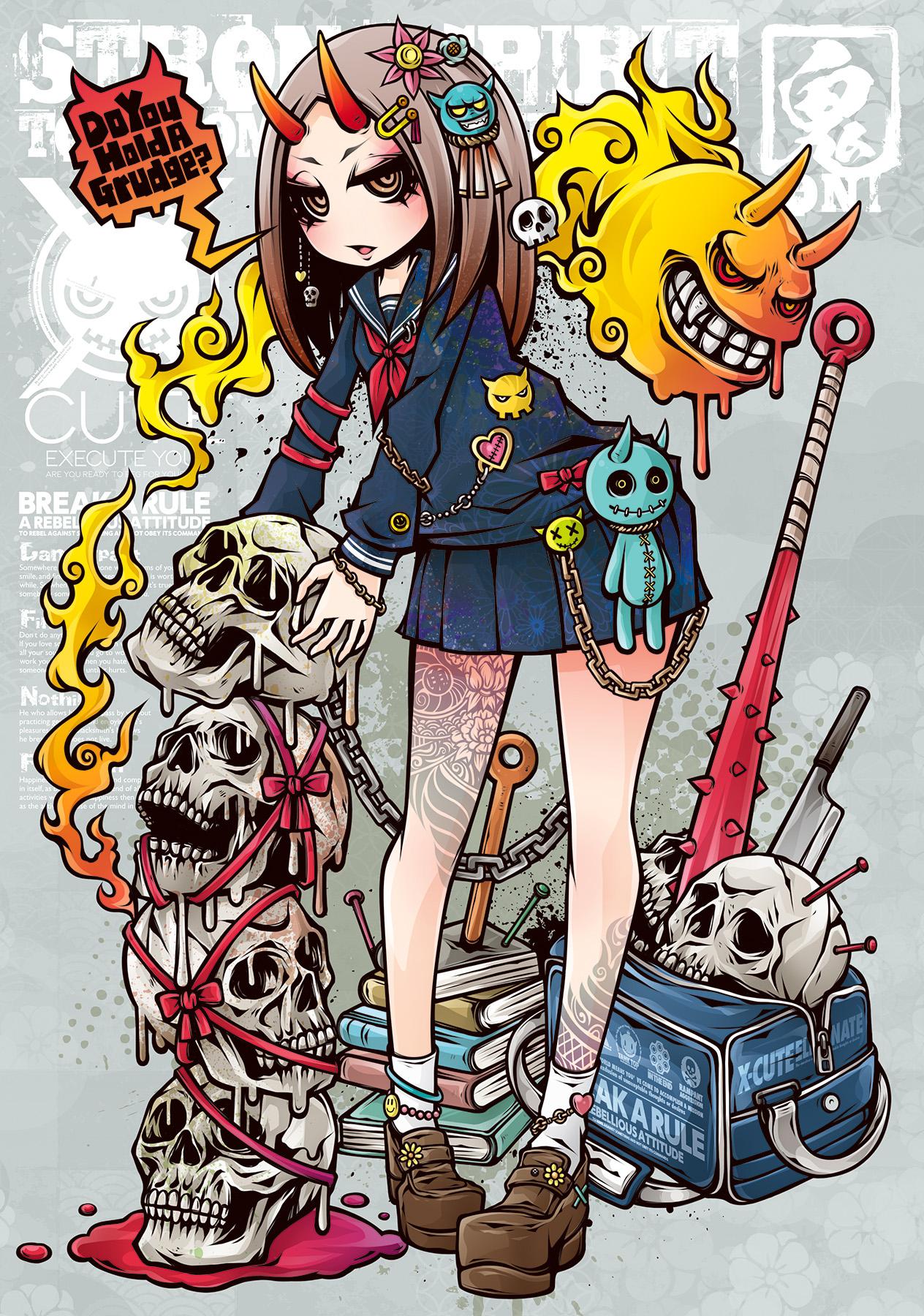 anime-girls-anime-original-characters-tattoo-horns-Project-C-K-miniskirt-skull-legs-1585909.jpg