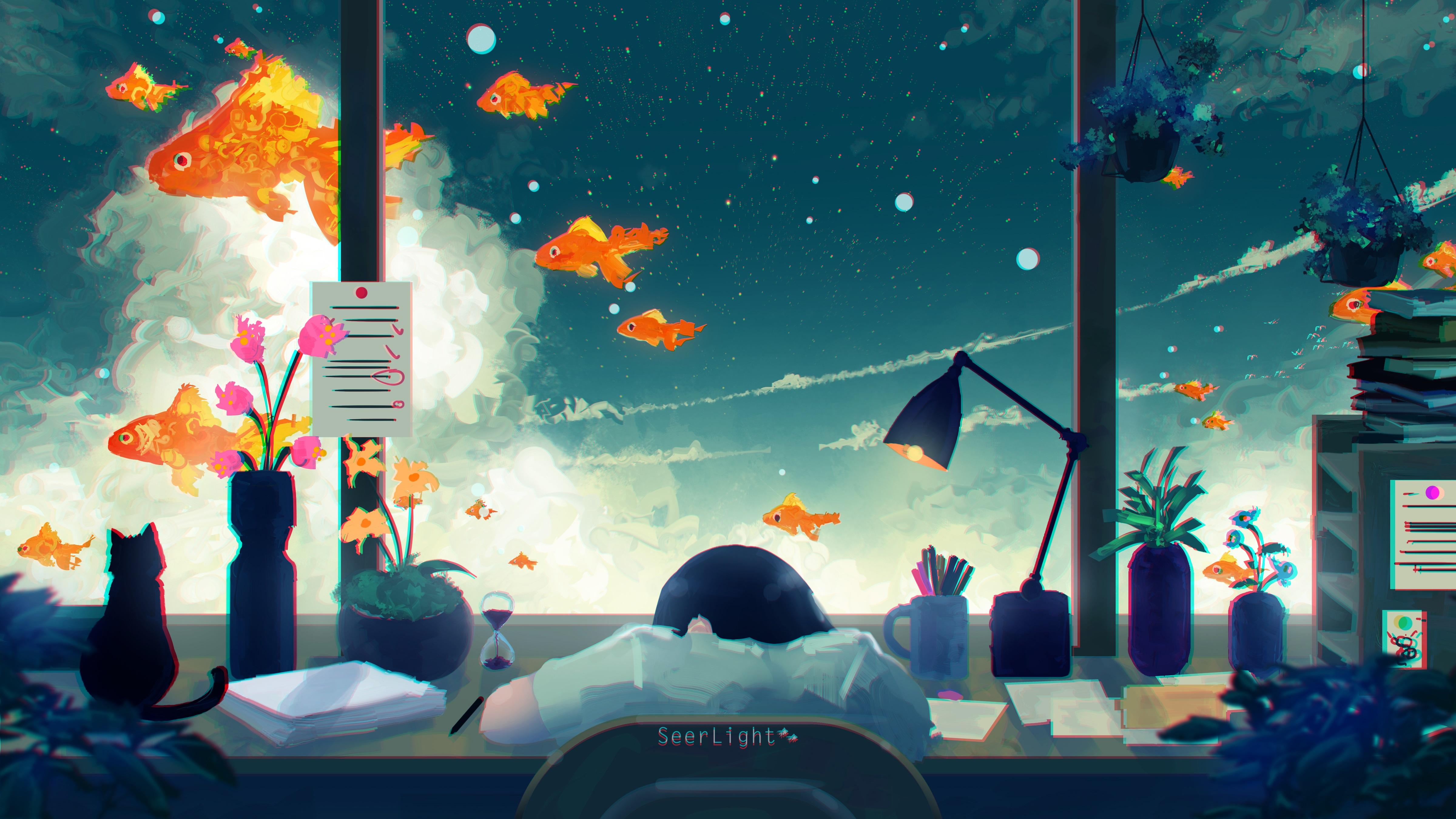 Anime Digital Art Wallpaper Hd